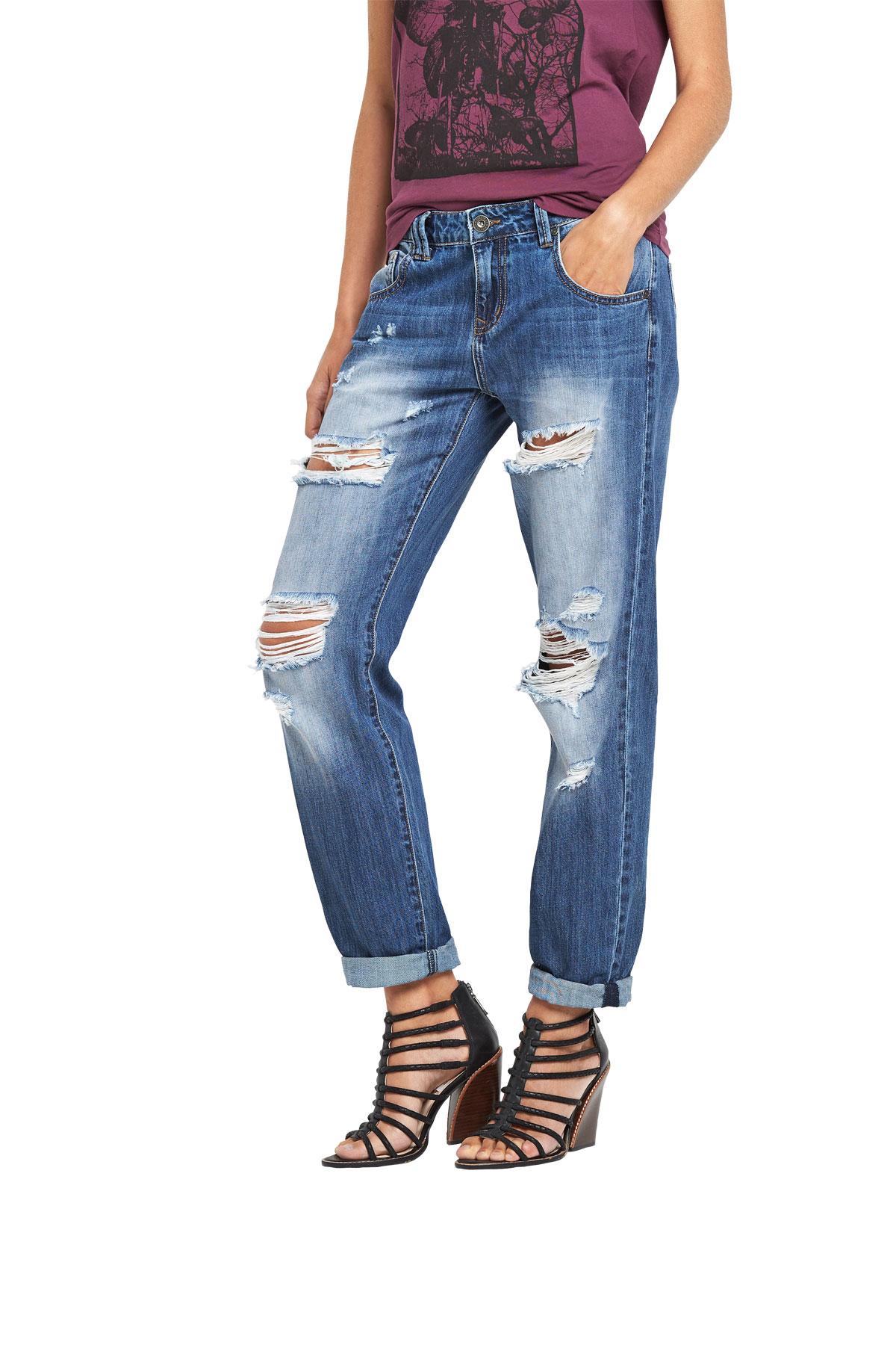 Модные женские джинсы бойфренды-2017: фото стильных 19