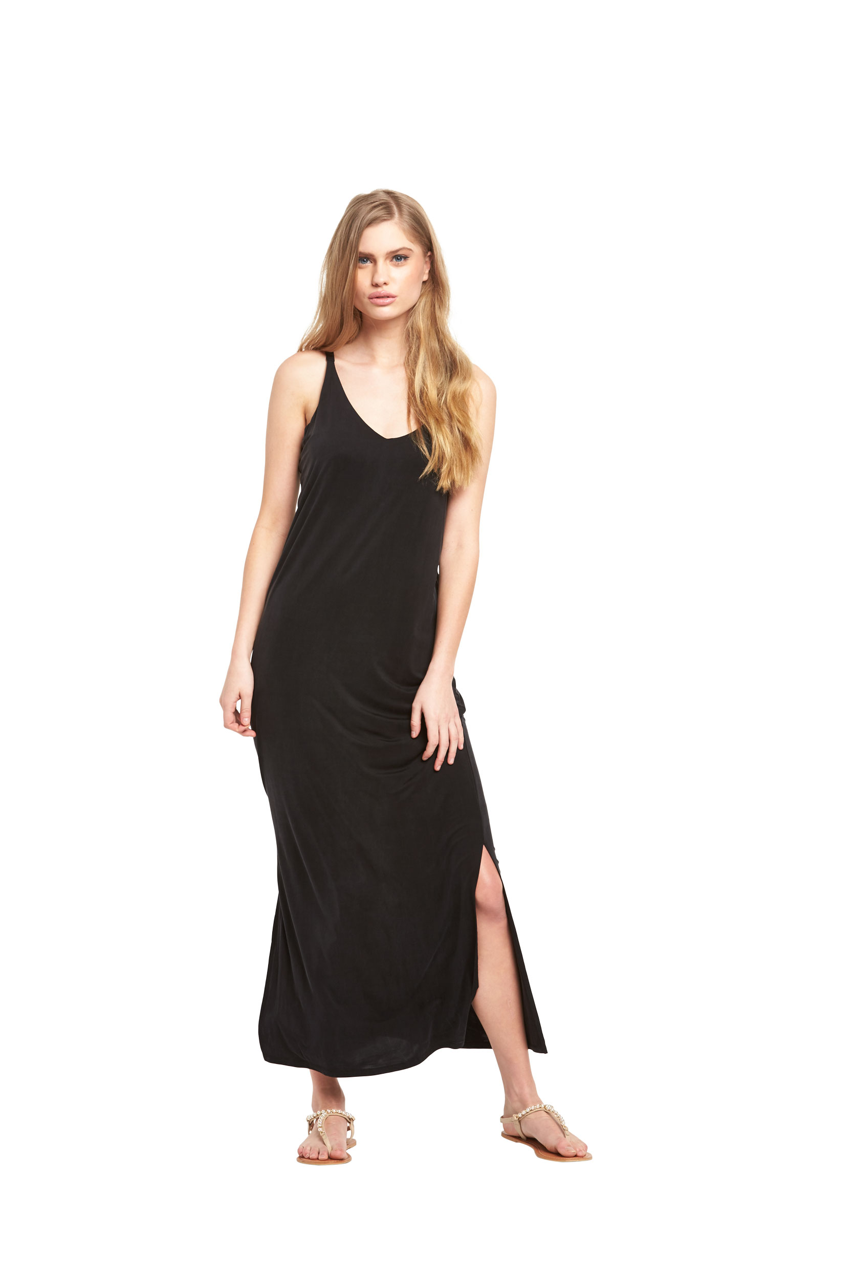 Warehouse Cupro Midi Dress