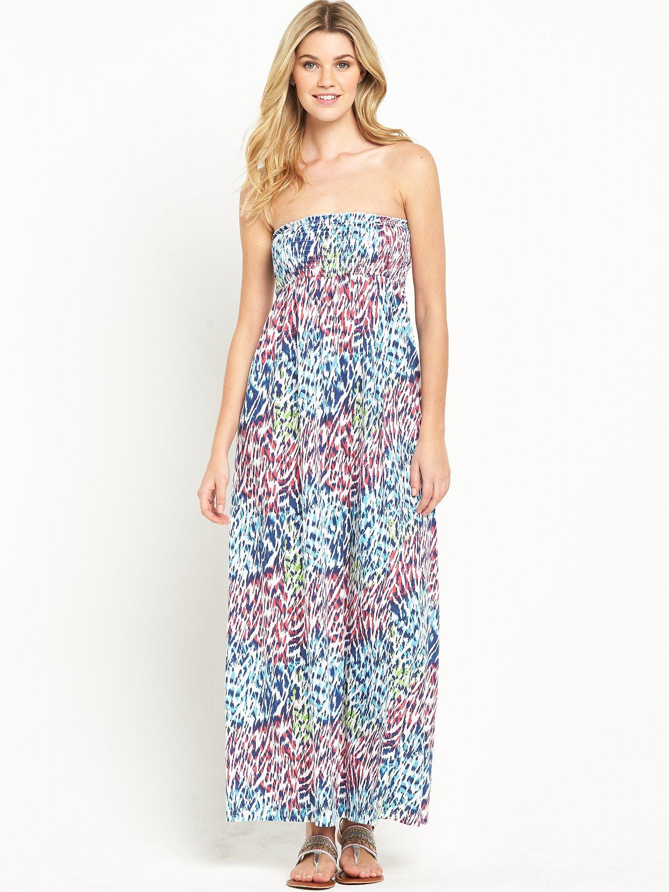 South Animal Bandeau Maxi Dress