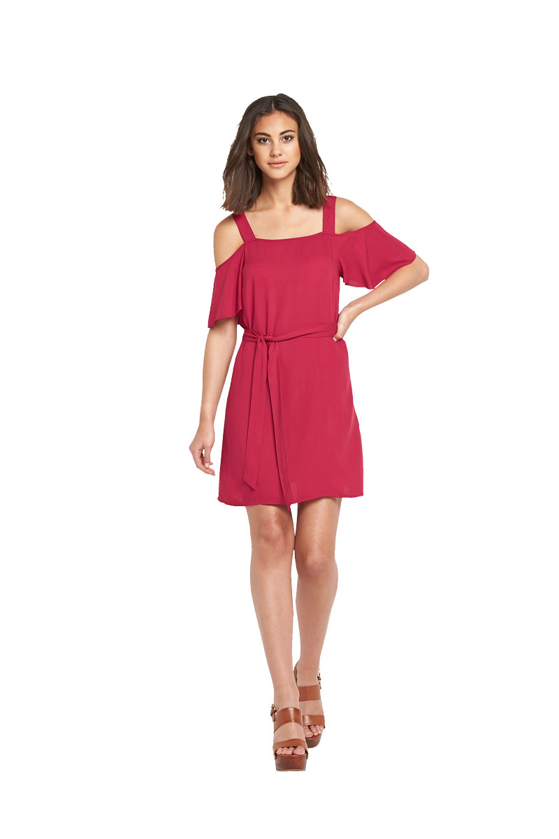 Warehouse Cold Shoulder Tunic Dress