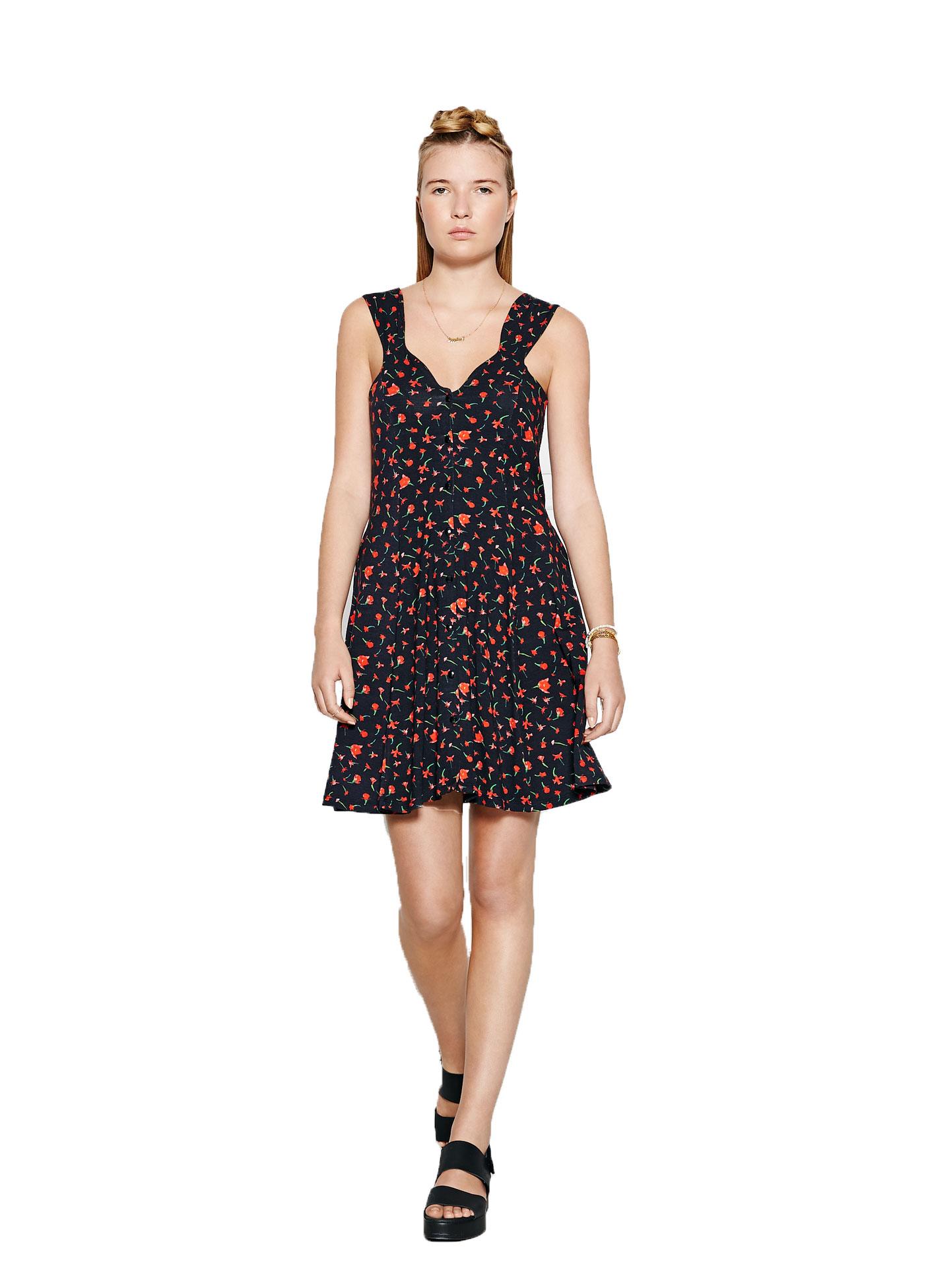 PPQ Cream Label Sweetheart Neckline Dress