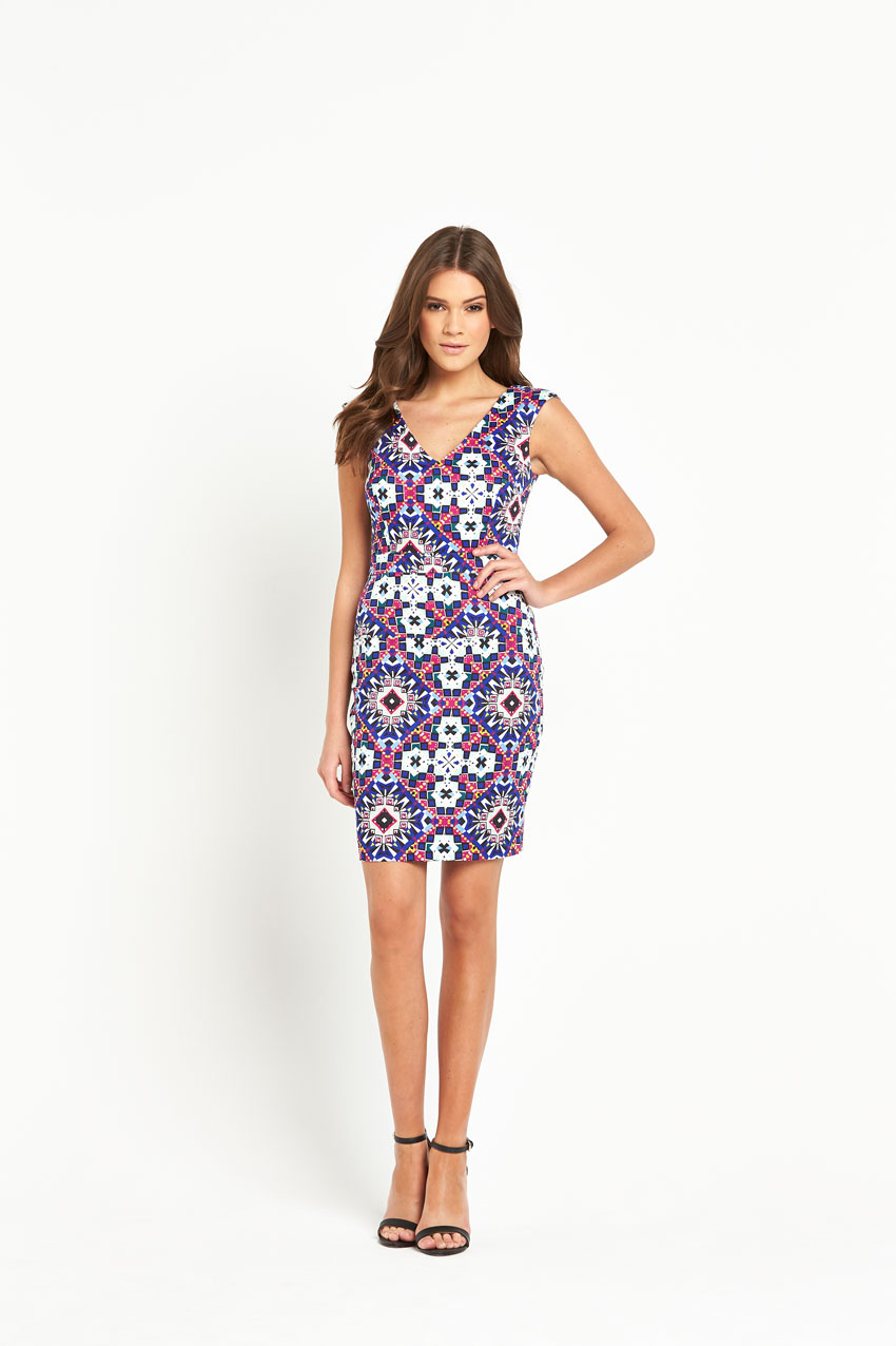 French Connection Electric Mosaic Dress