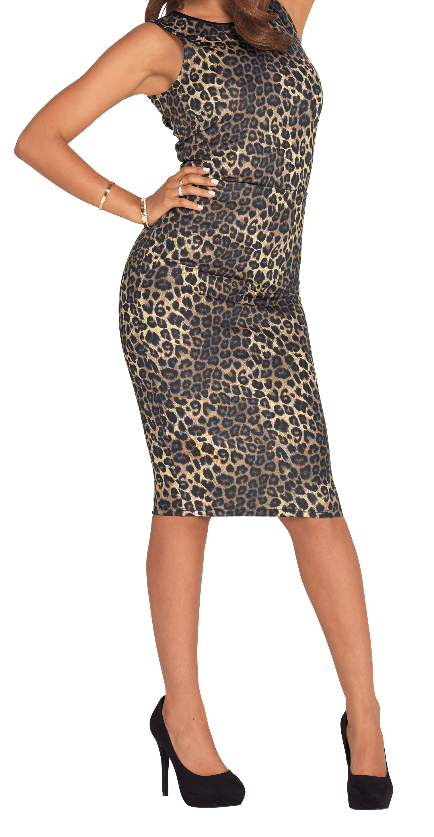Very Animal Print Scuba Skirt