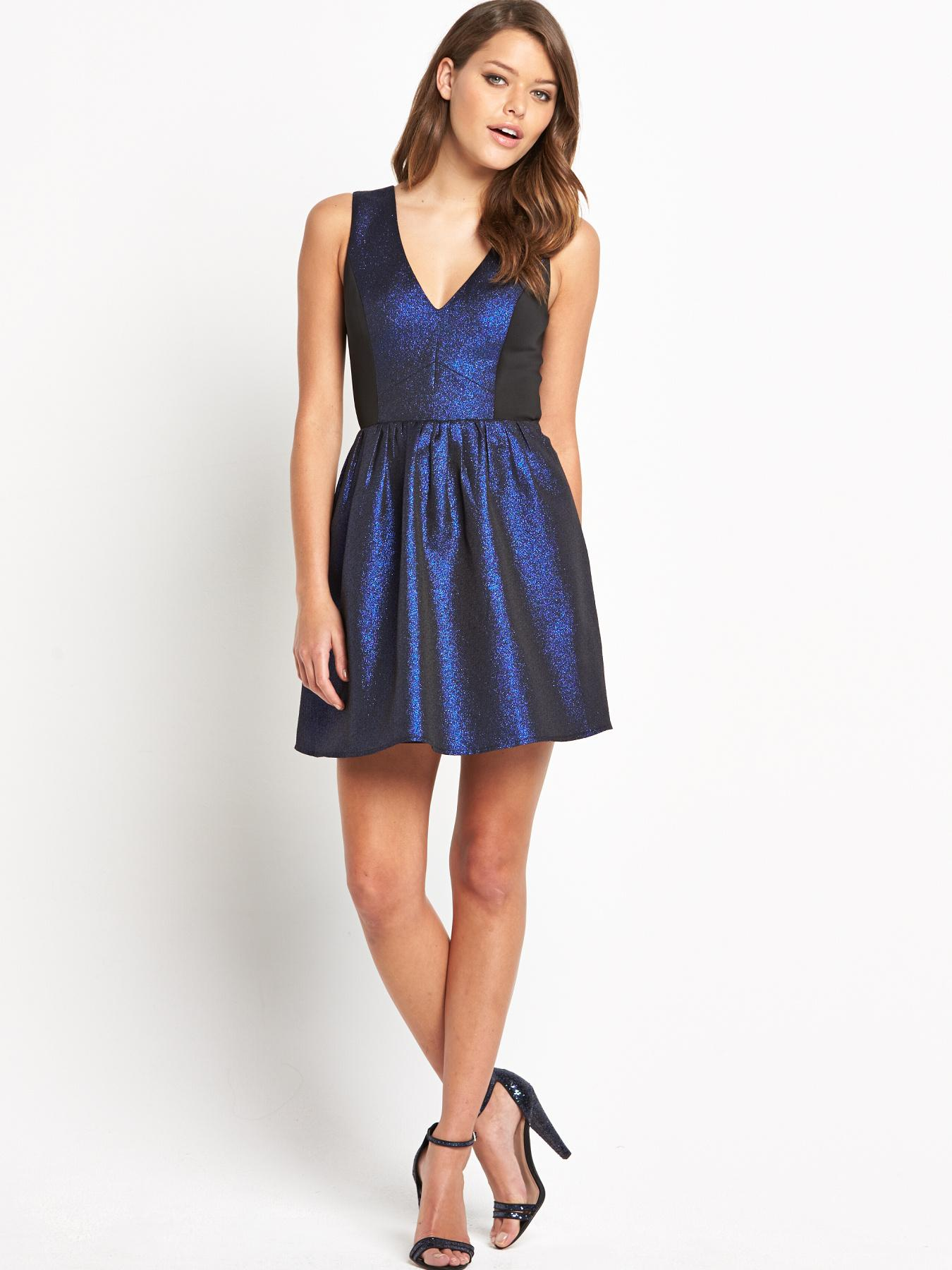 Girls On Film Blue Prom Dress