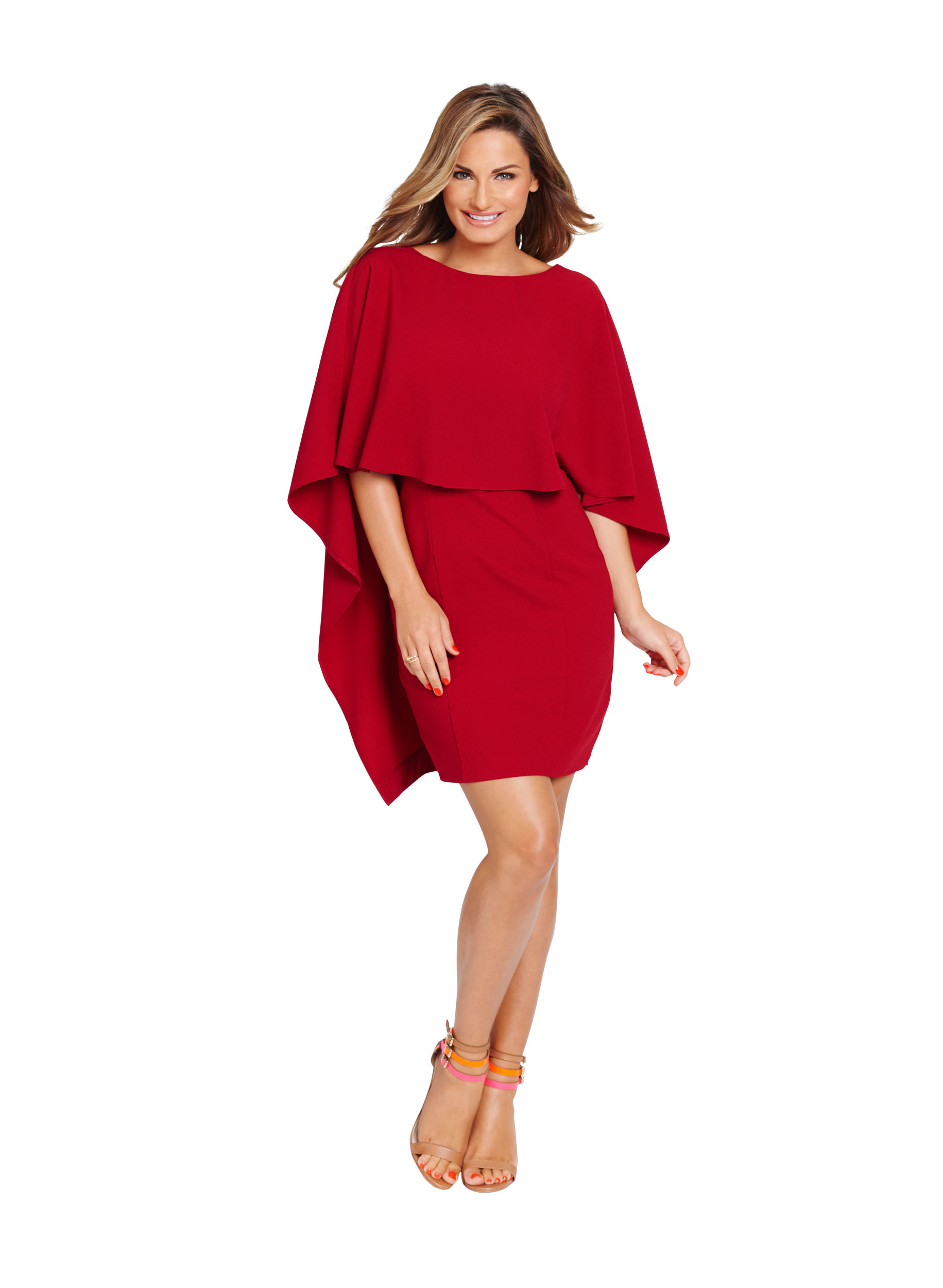 Samantha Cape Front Dress