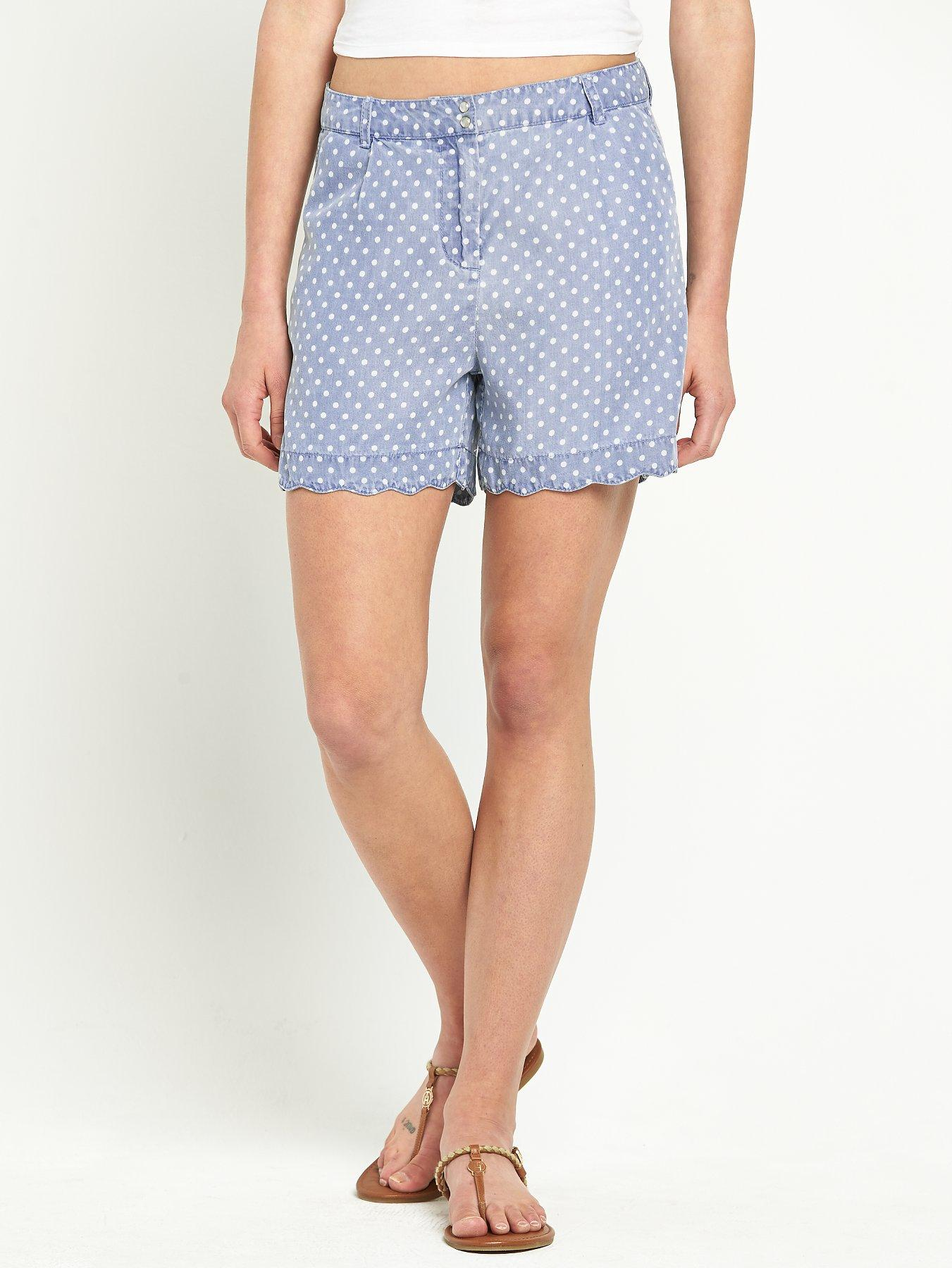 Love Label Blouson Polka Dot Shorts
