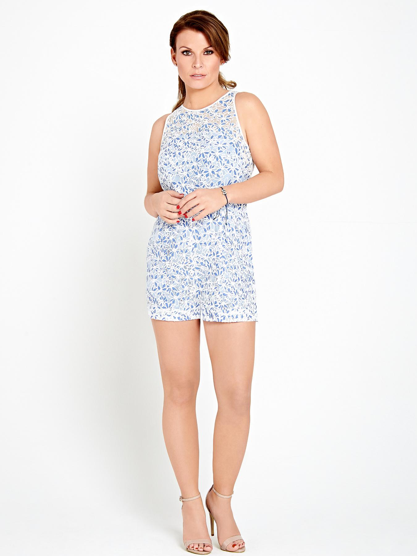 Coleen Floral Cutwork Playsuit