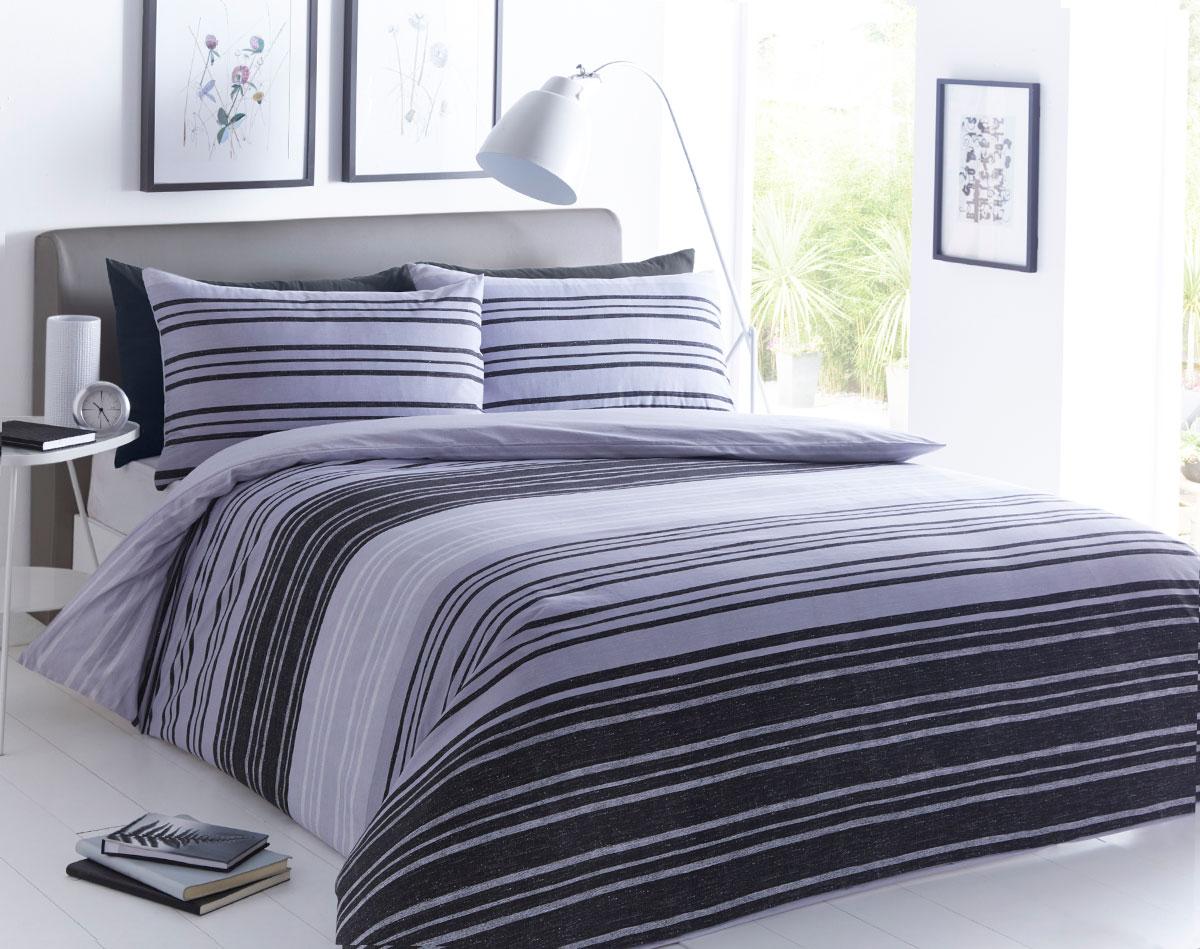Textured Stripe Duvet Set - Single.