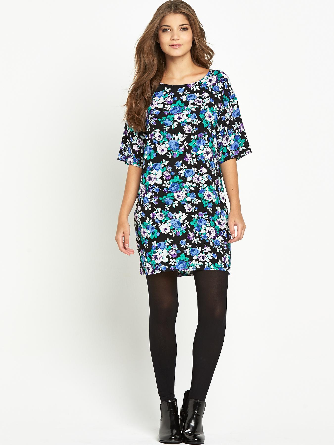 Glamorous Floral Print Shift Dress