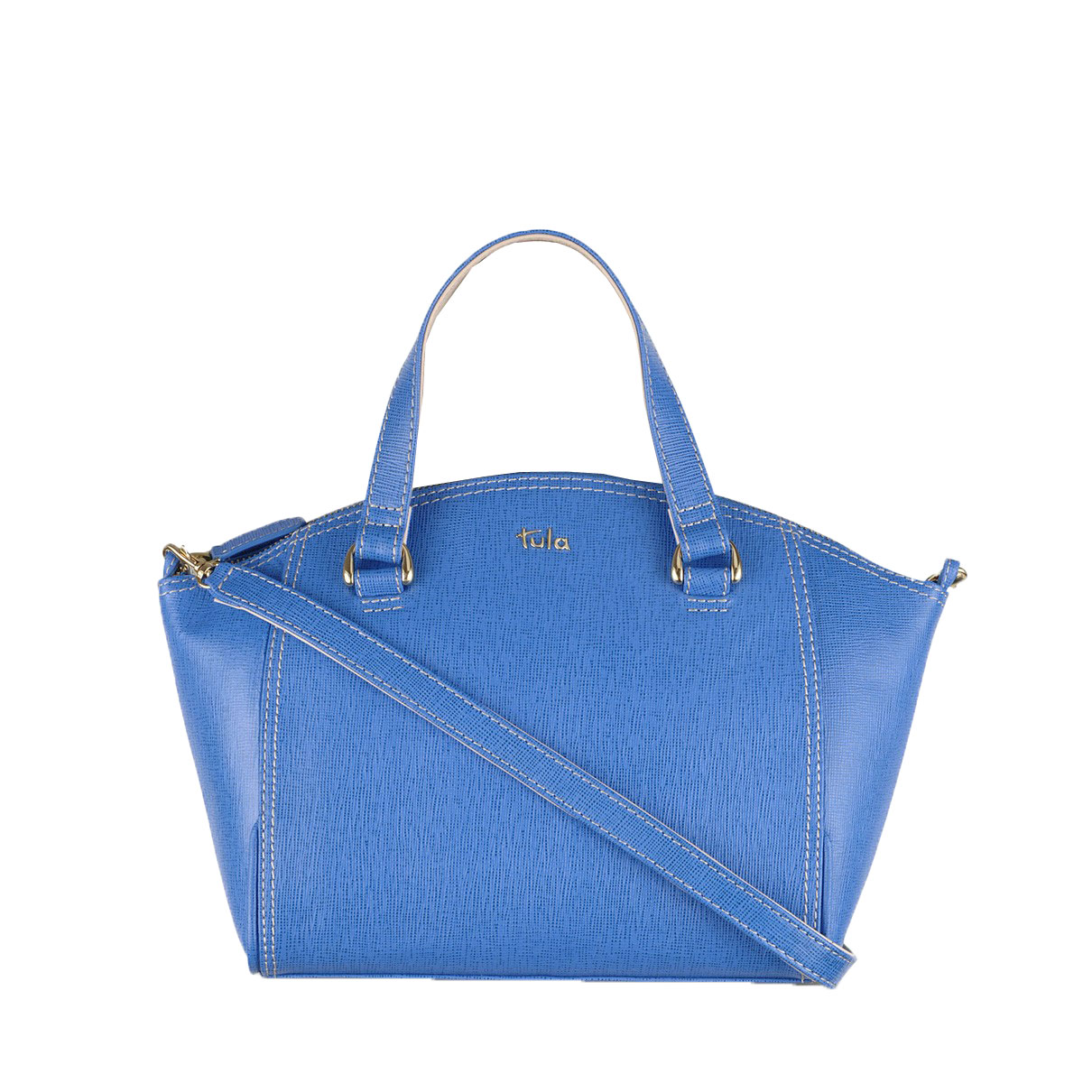 Tula Saffiano Zip Top Tote Bag