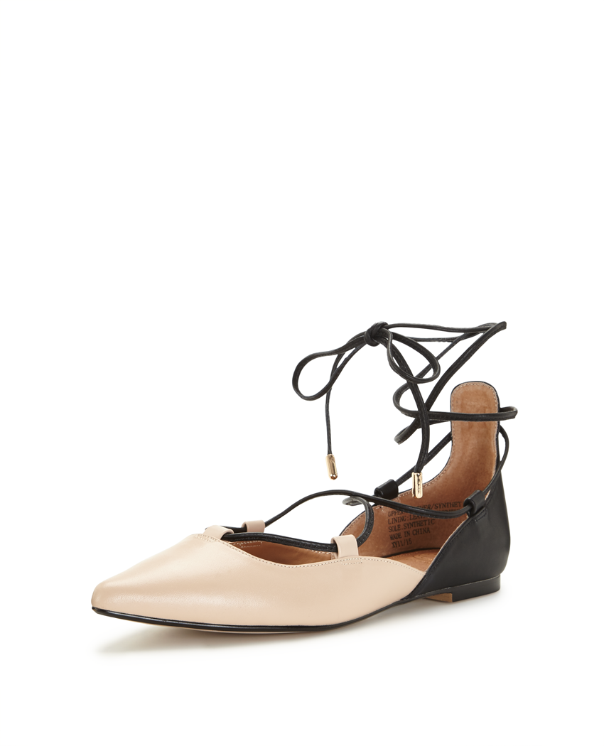 KG By Kurt Geiger Larissa Ghillie Tie Pointed Flat Shoes