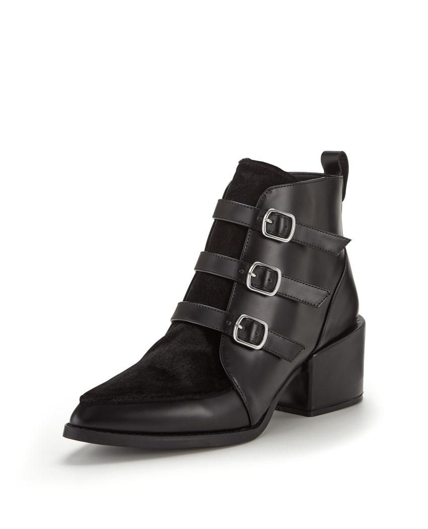 shoe box block heel patent boots bargain