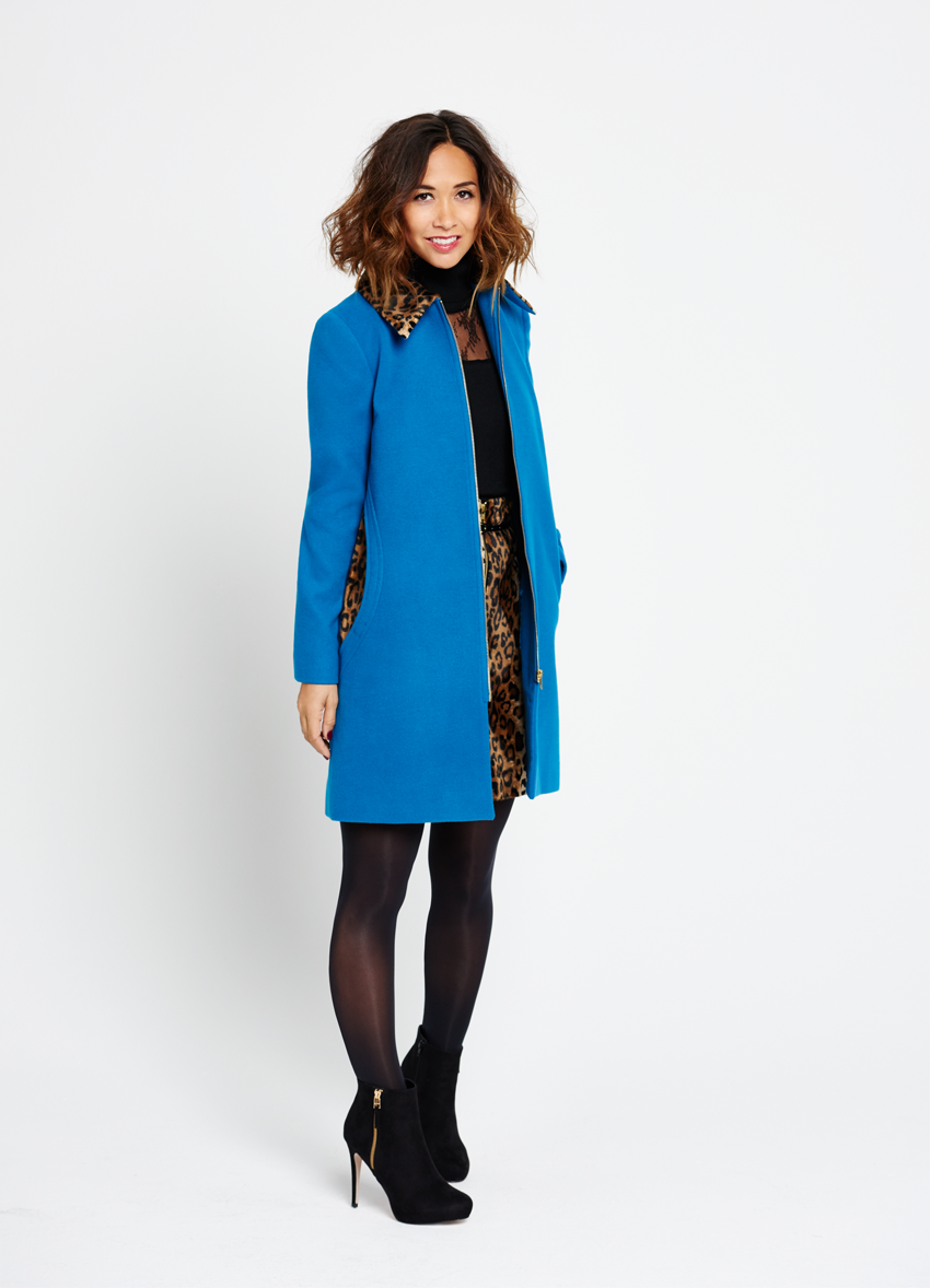 Myleene Klass Animal Collar Coat