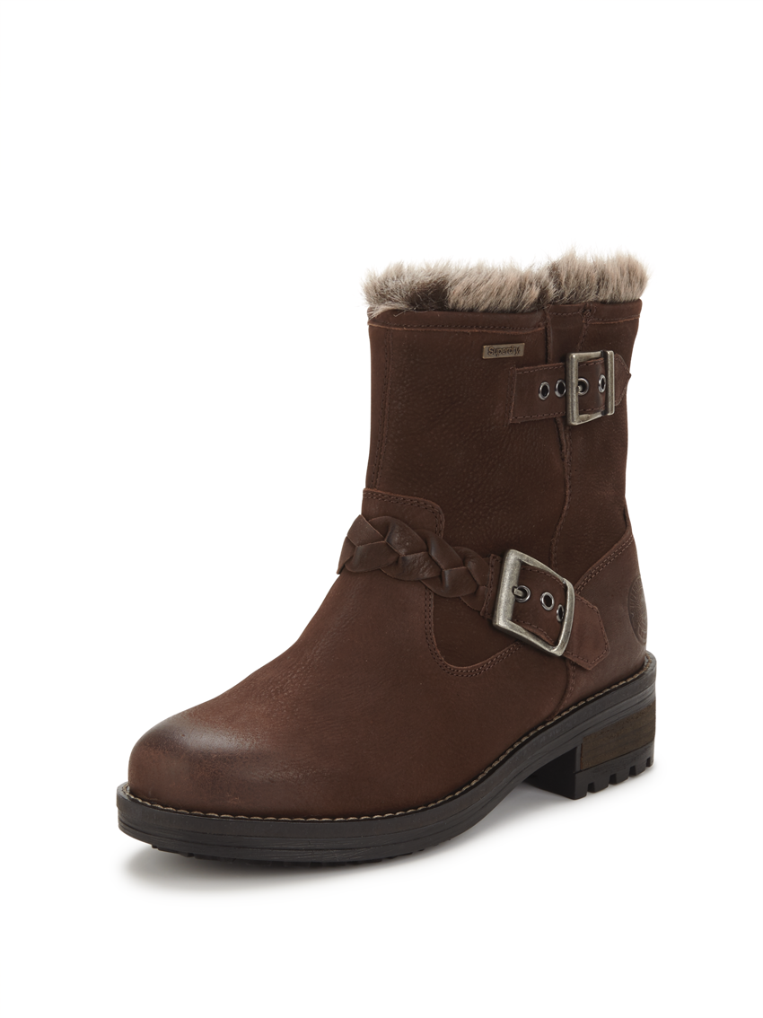 Superdry Hurbis Buckle Leather Ankle Boot