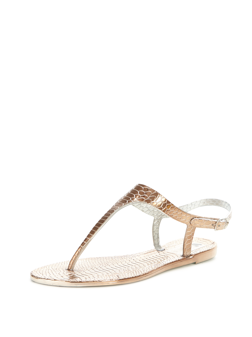 V by Very Fairfield Snake Jelly Toepost Sandals.
