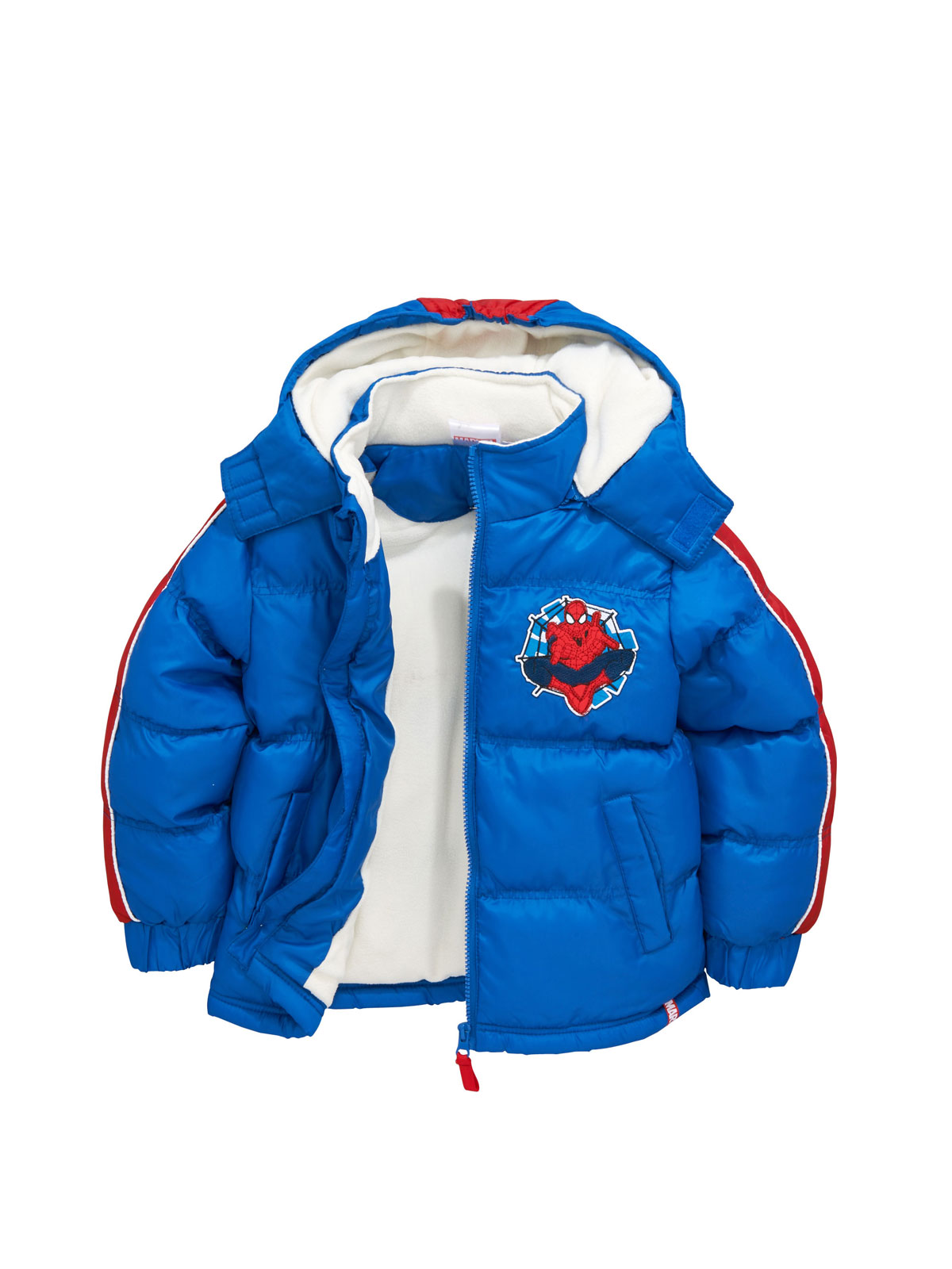 Spiderman Boys Hooded Padded Coat