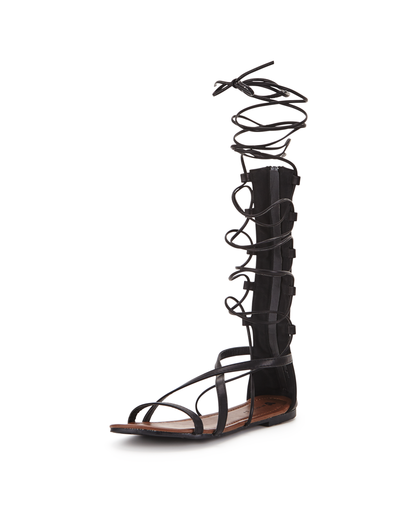 V by Very Knee High Lace Up Gladiator Sandals