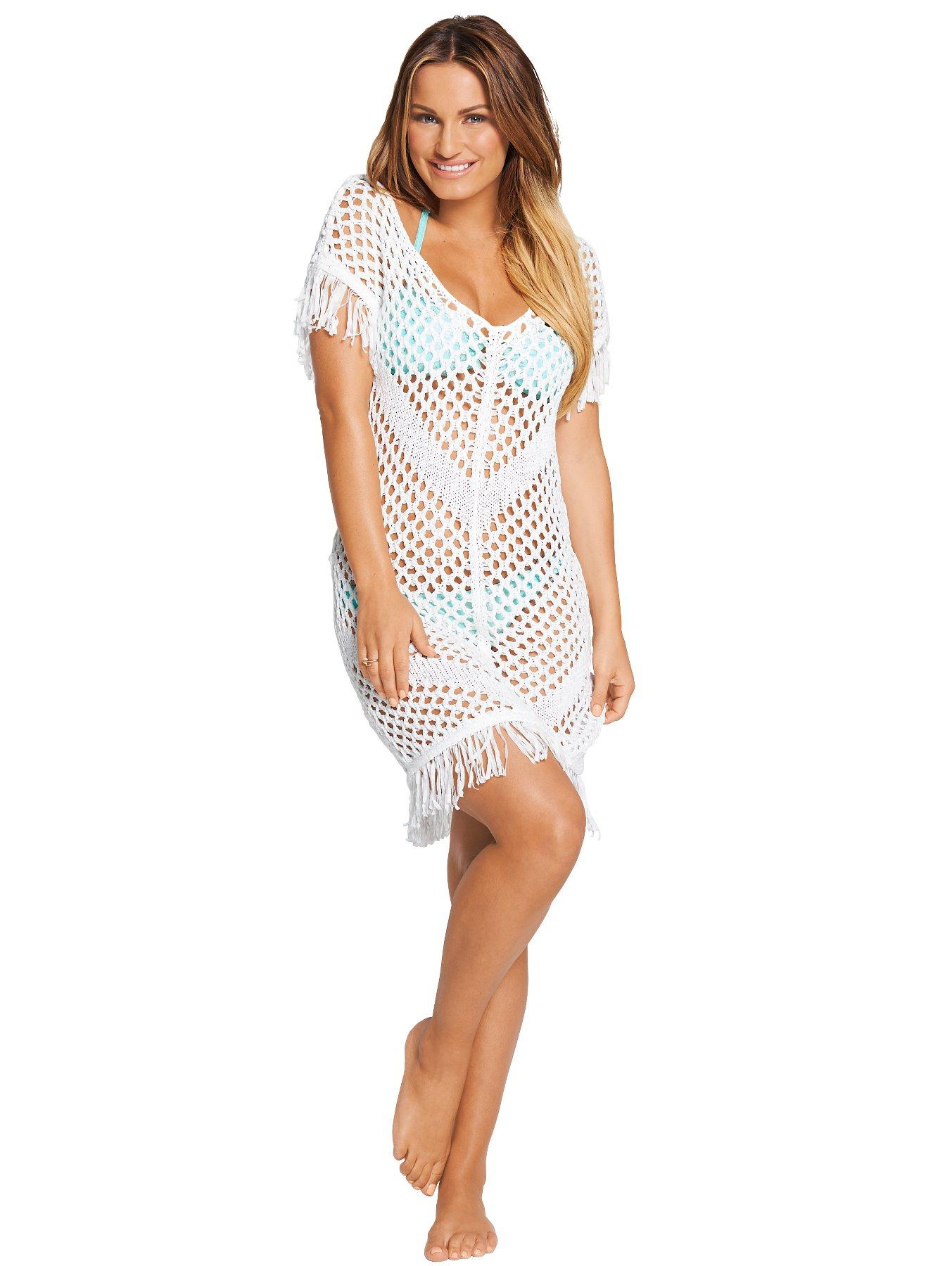 Samantha Faiers Crochet Tassle Beach Dress