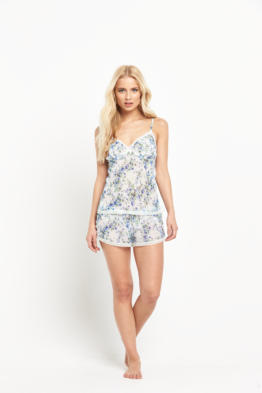 Mariemeili Marie Meili Eileen Camisole And Shorts Set