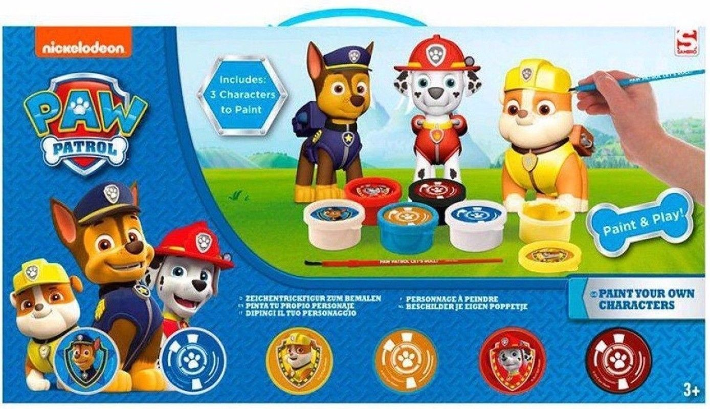 Paw Patrol Paint Your Own Figurine 3 Piece Art Set