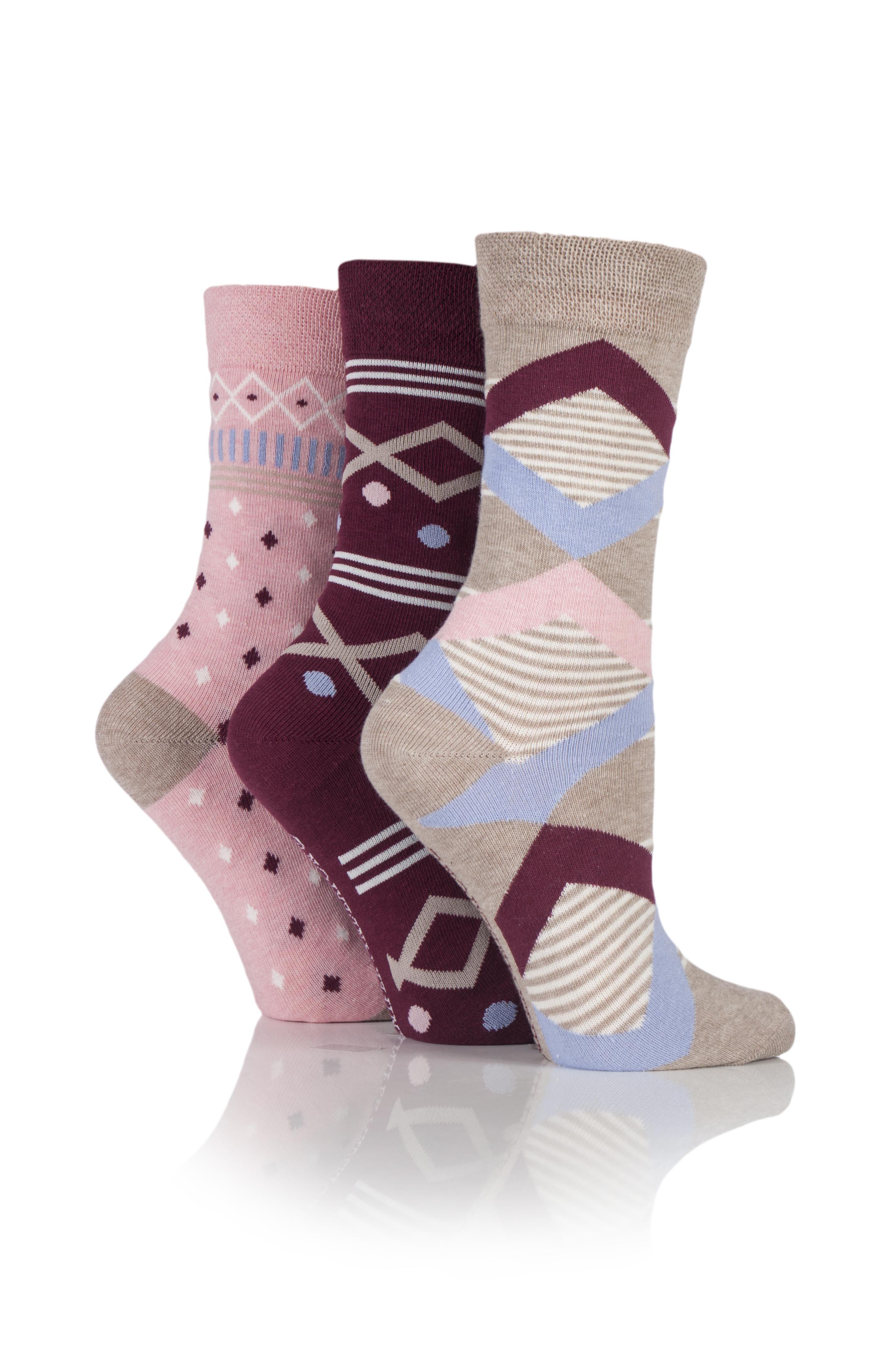Jennifer Anderton Pack of 3 Mixed Pattern Socks