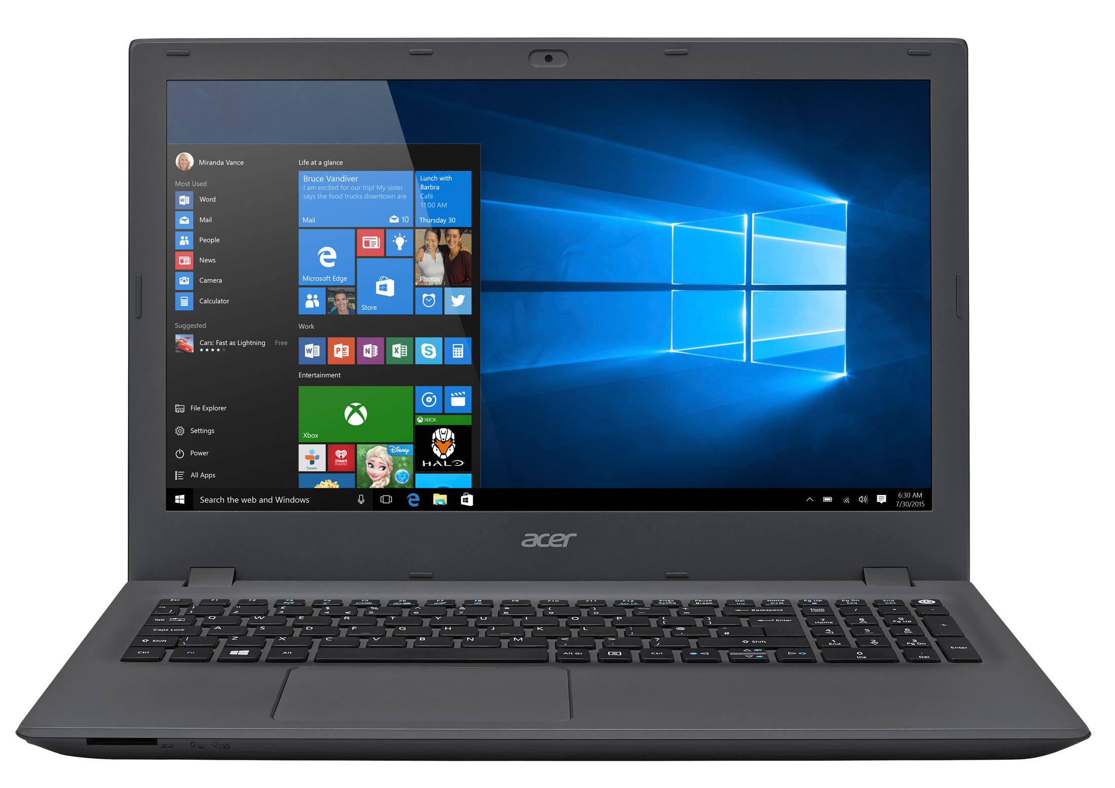 Acer Aspire ES 15 Series ES552T7T2 AMD A10 8GB RAM 1TB HDD 156 Notebook
