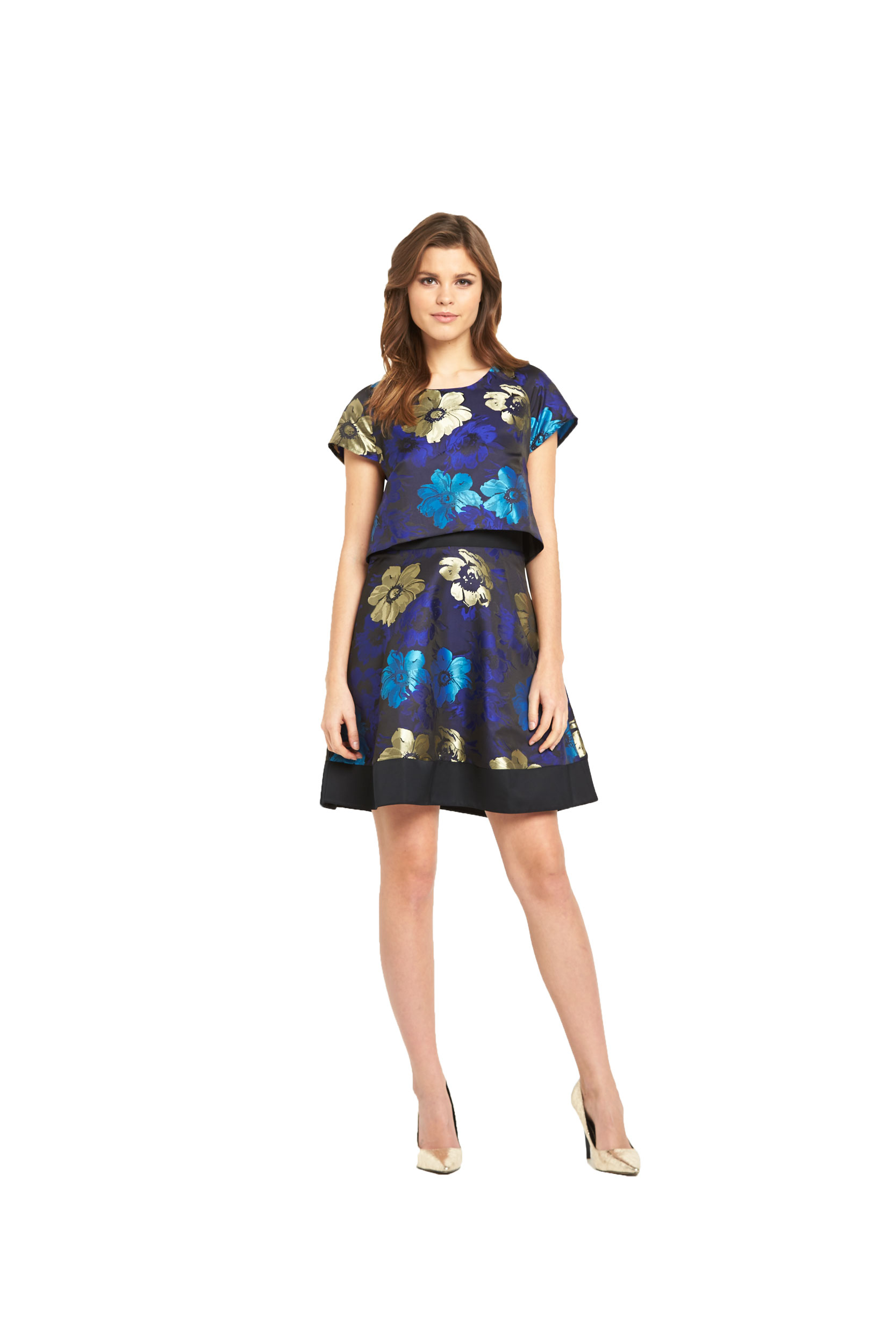 V By Very 2 In 1 Floral Jacquard Prom