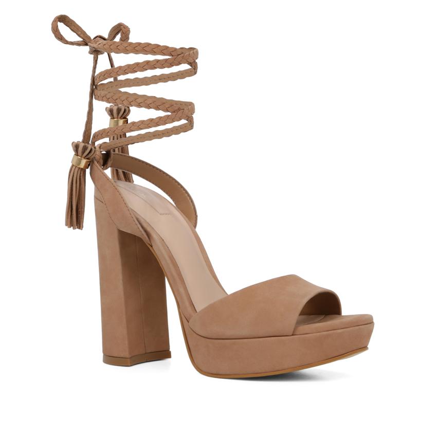 aldo chareri two part tassel platform shoes