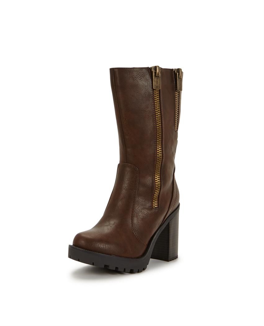 Firetrap Quaff Double Zip Calf Boots
