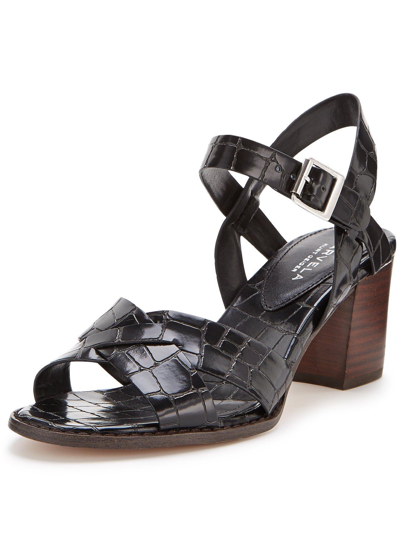 Black sandals littlewoods - Carvela Sand Block Heel Sandals