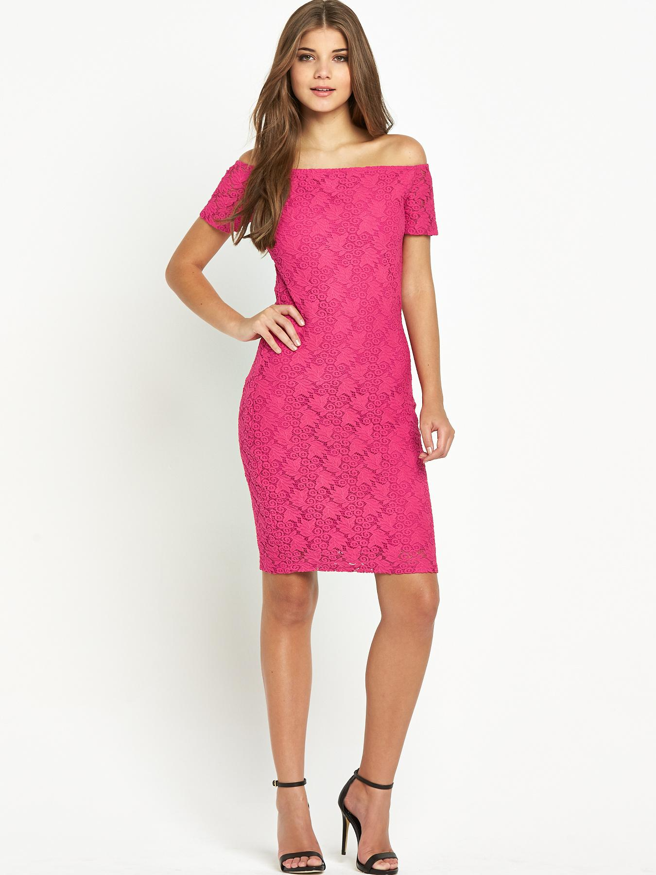 Club L Lace Bardot Dress