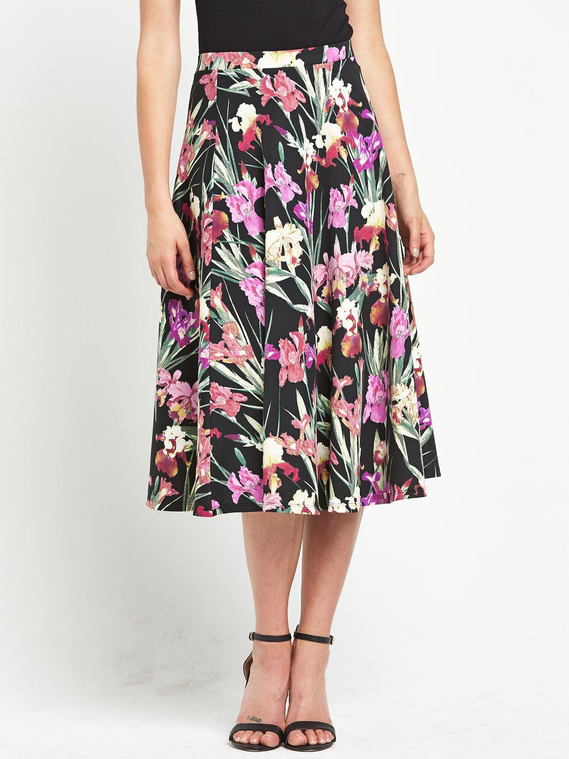 South Scuba Full Midi Skirt.