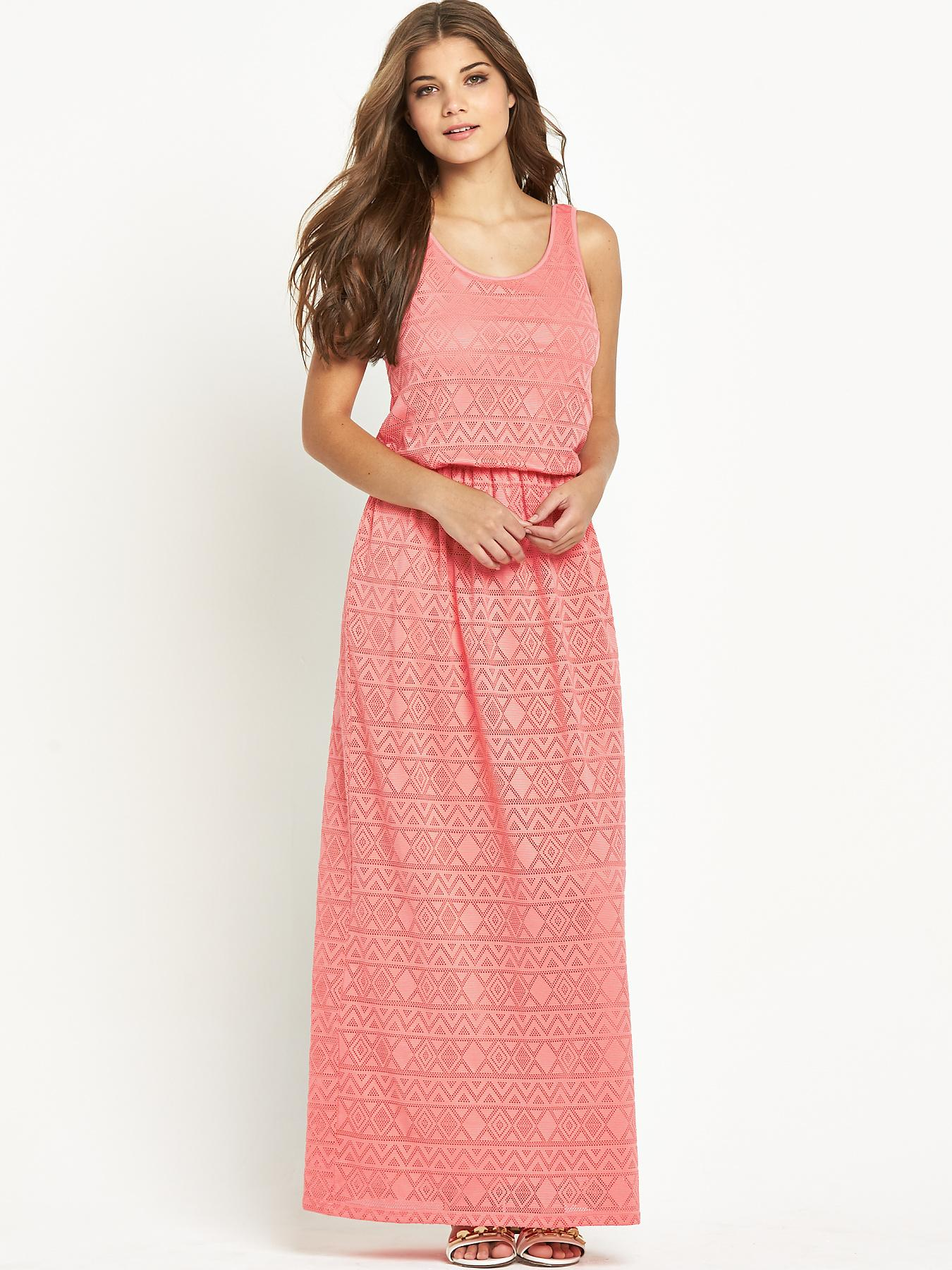 Club L Aztec Lace Maxi Dress