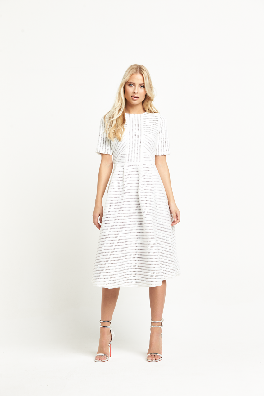 8th Sign Sleeve Midi Dress