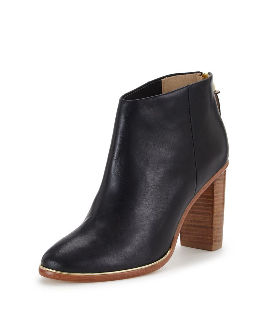Ted Baker Lorca Wooden Heel Leather Ankle Boots