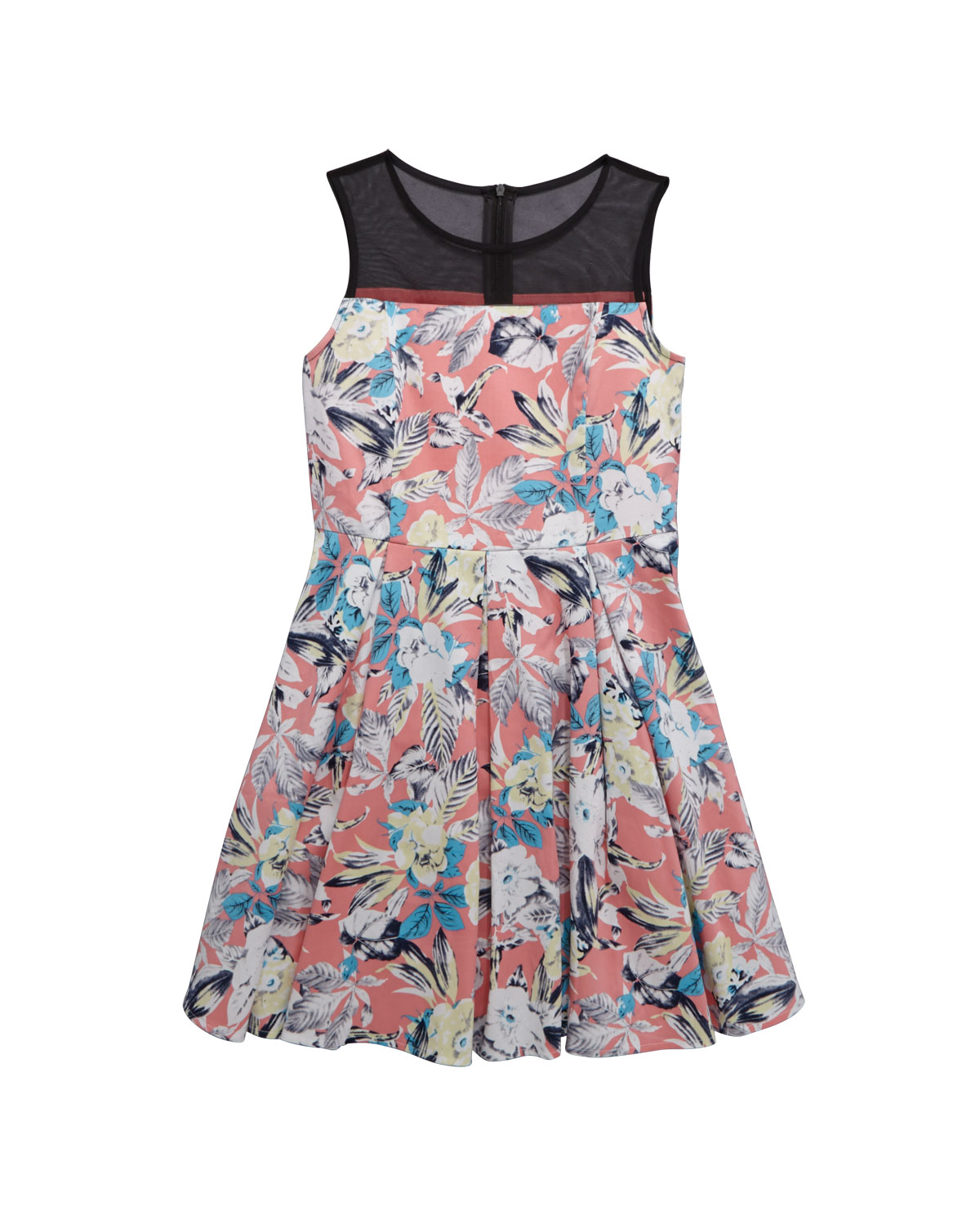 V By Very Sleeveless Mesh Yoke Prom Dress
