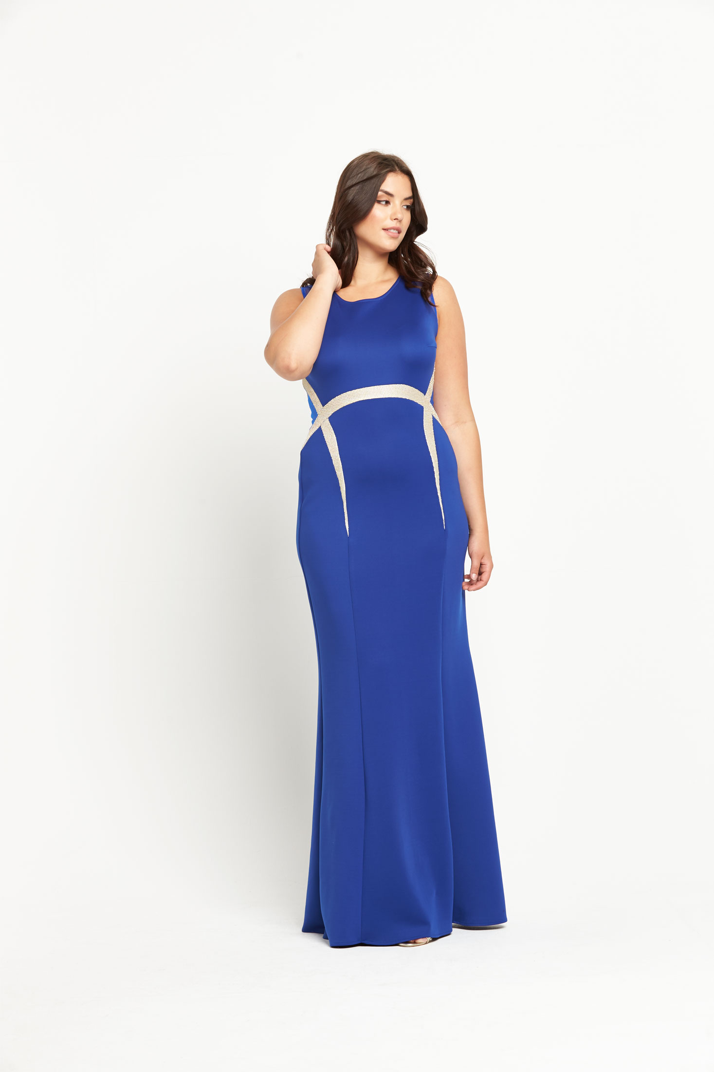 Forever Unique Curve Olimpia Maxi Dress