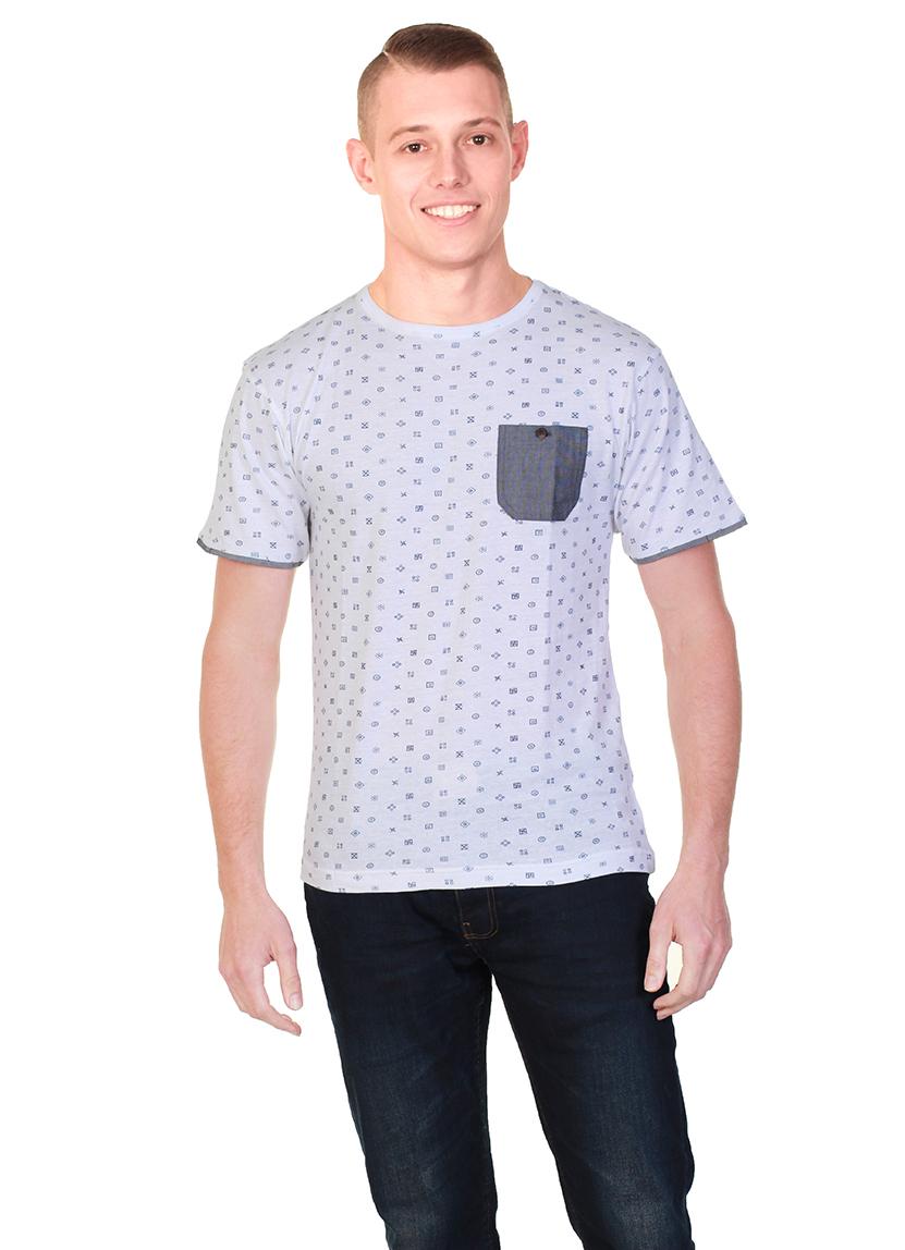 Cargo Bay Printed Crew Neck T-Shirt.