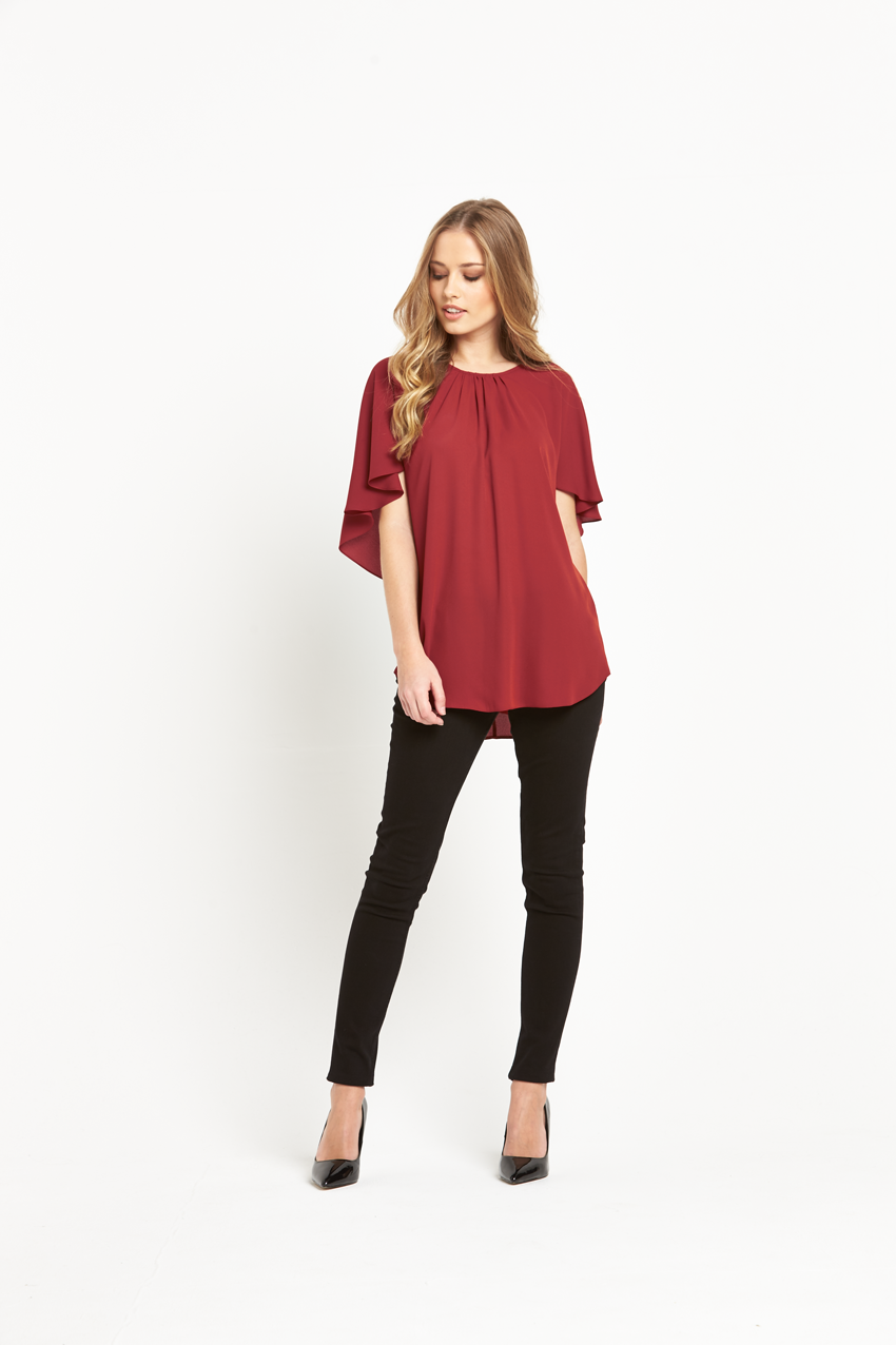 Wallis Cape Sleeve Top