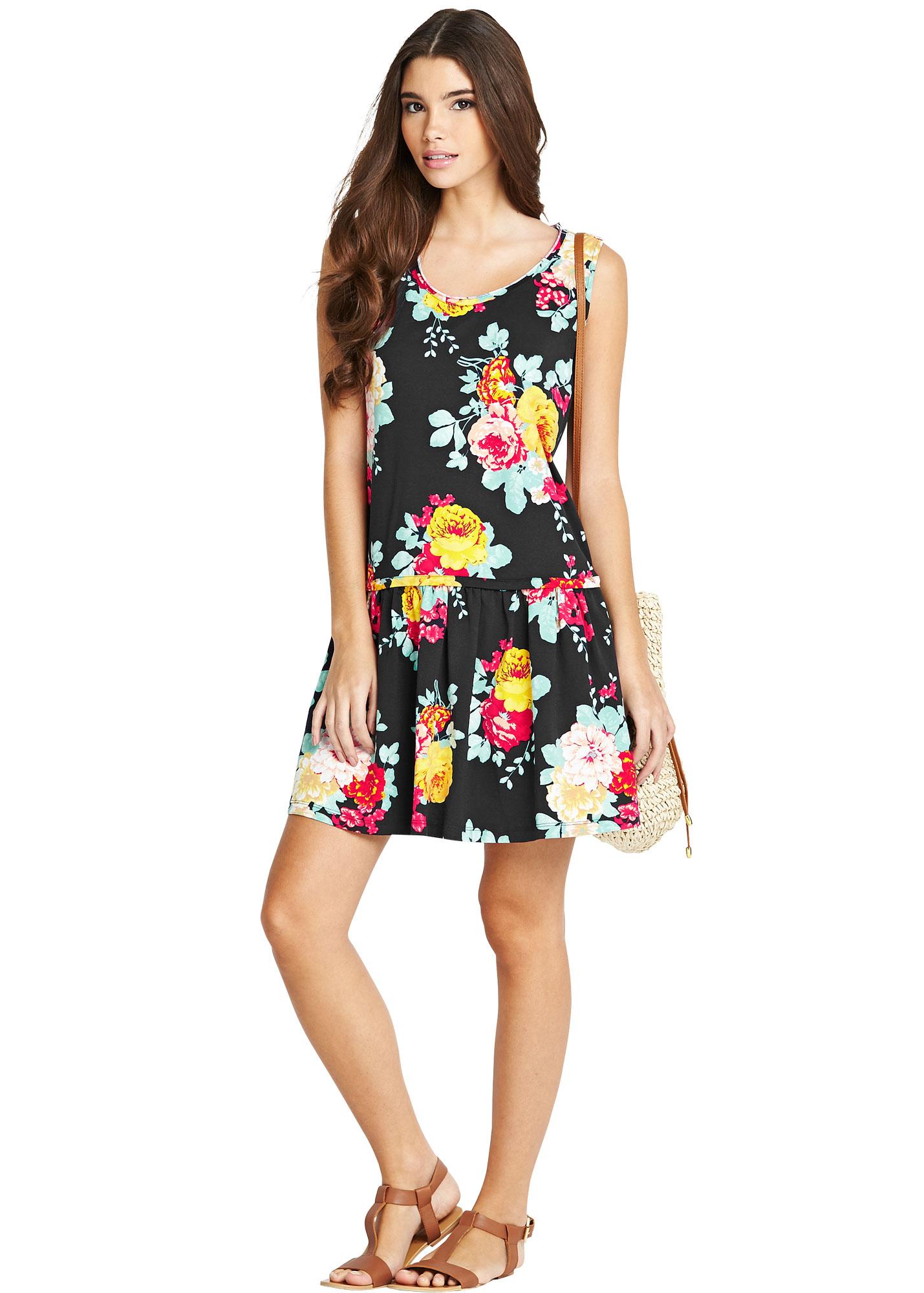 Vila Harry Floral Dropped Hem Dress