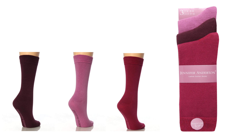 Jennifer Anderton Pack of 3 Honeycomb Top Socks