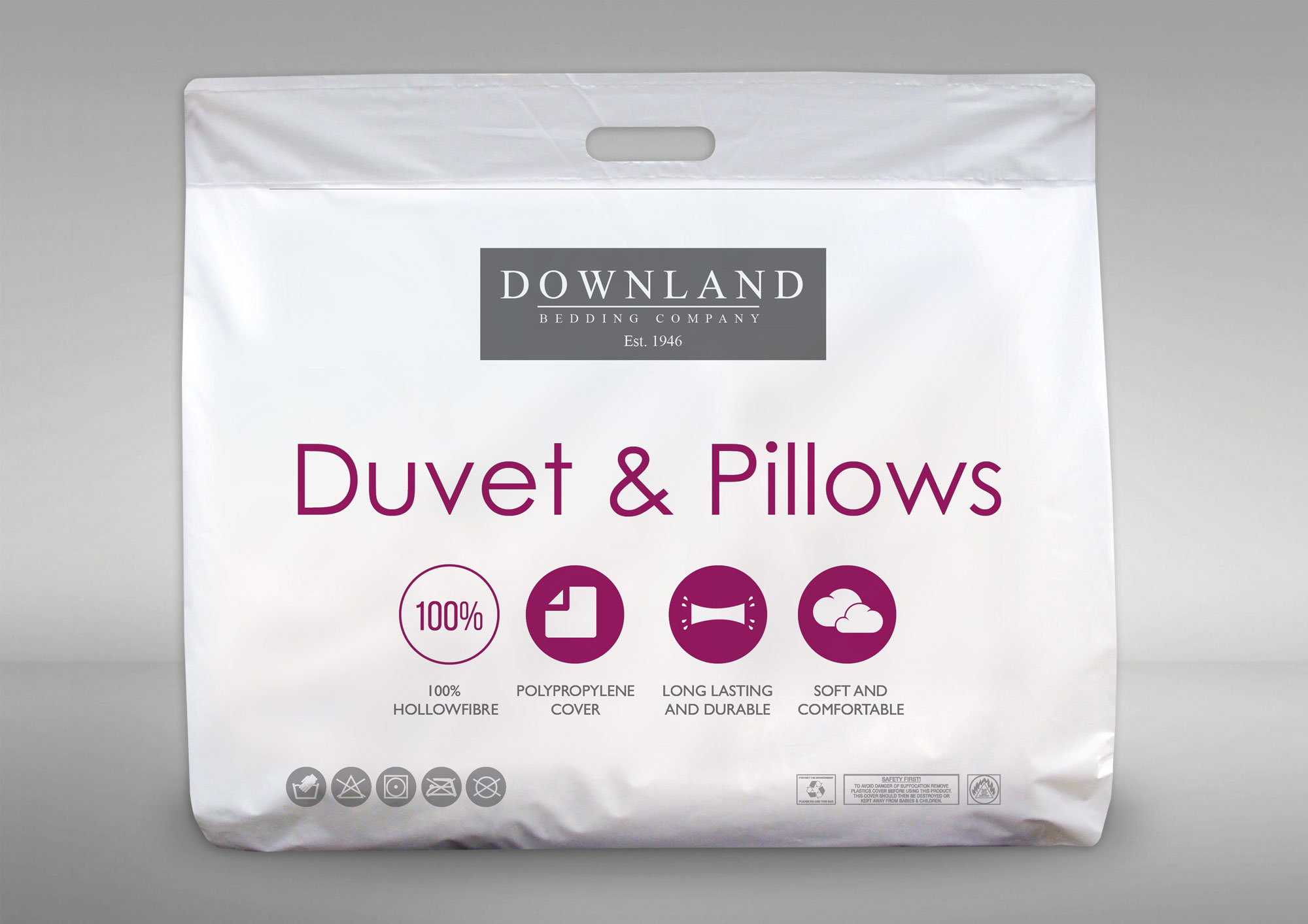 Downland 15 Tog Polypropylene Double Size Duvet  Pillow Set