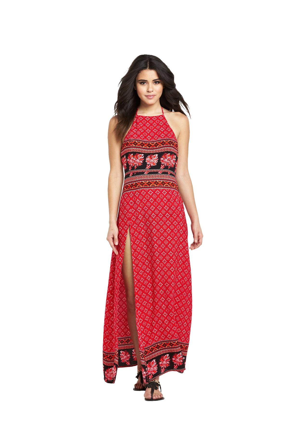Mink Pink Spice Market Halter Maxi Dress.