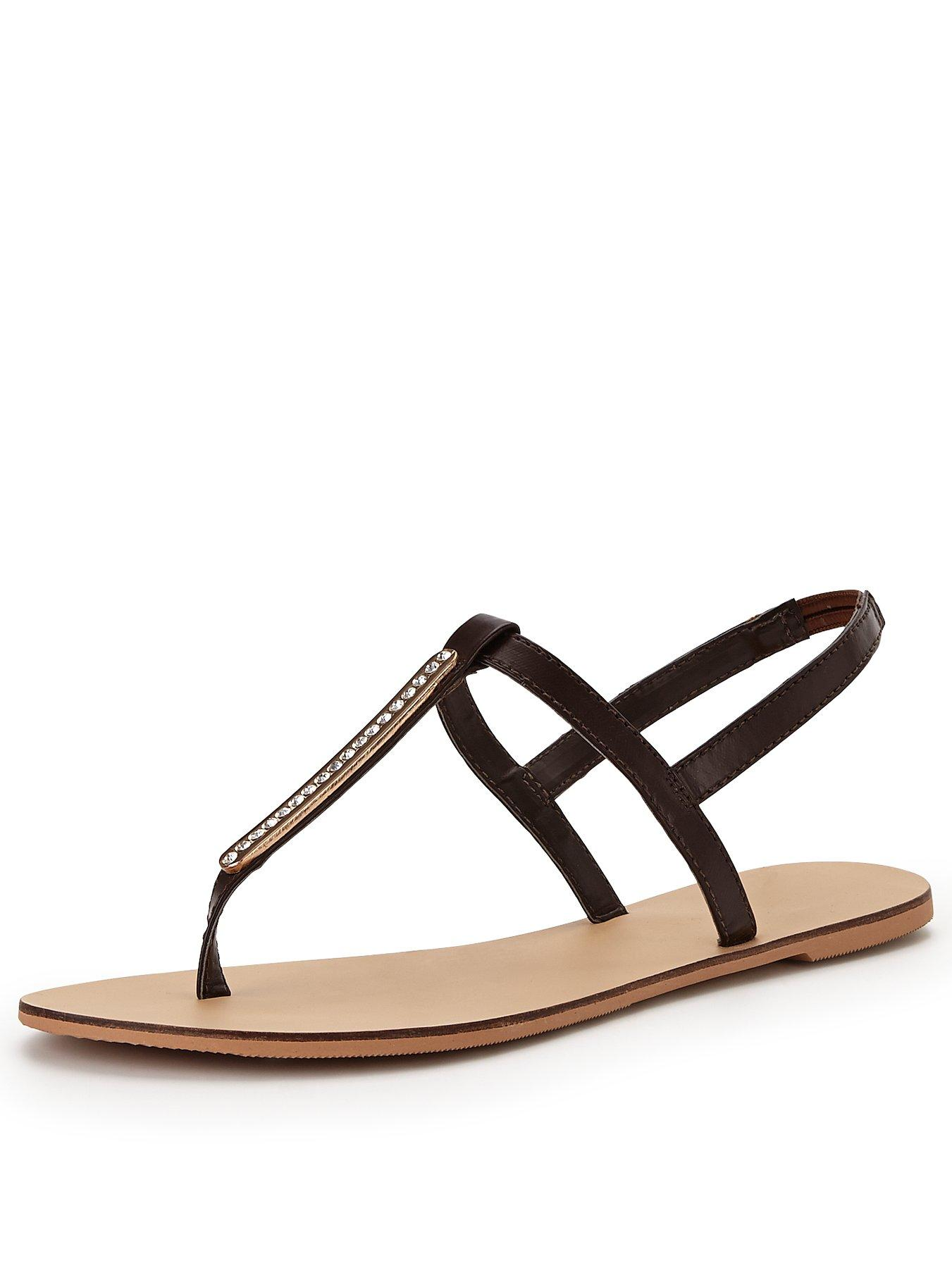 Shoe Box Diamante Toe Post Sandal