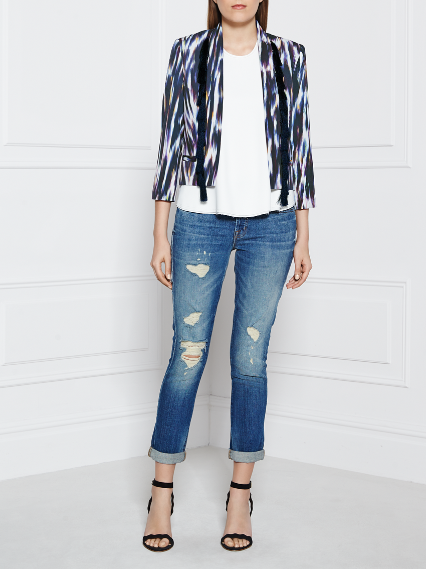 Supertrash Johnny Printed Tassel Blazer