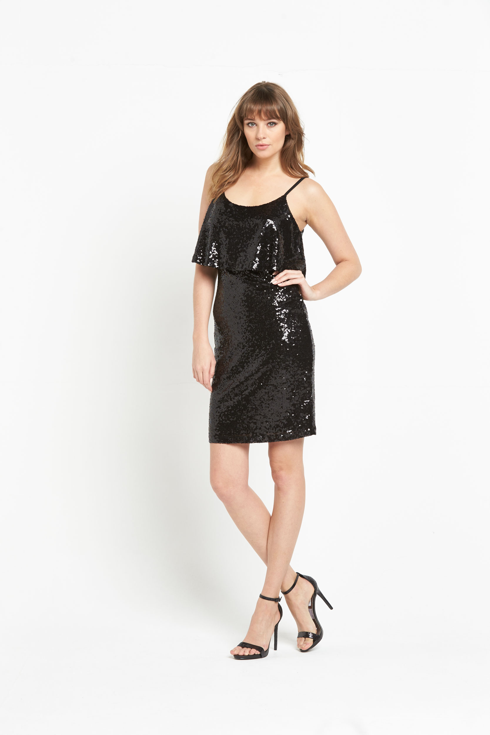 V By Very Sequin Double Layer Dress