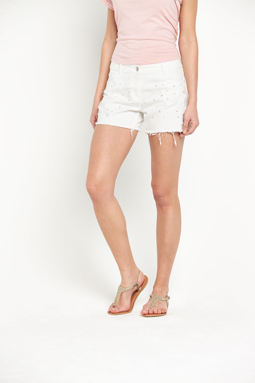South All Over Jewel Embellished Shorts