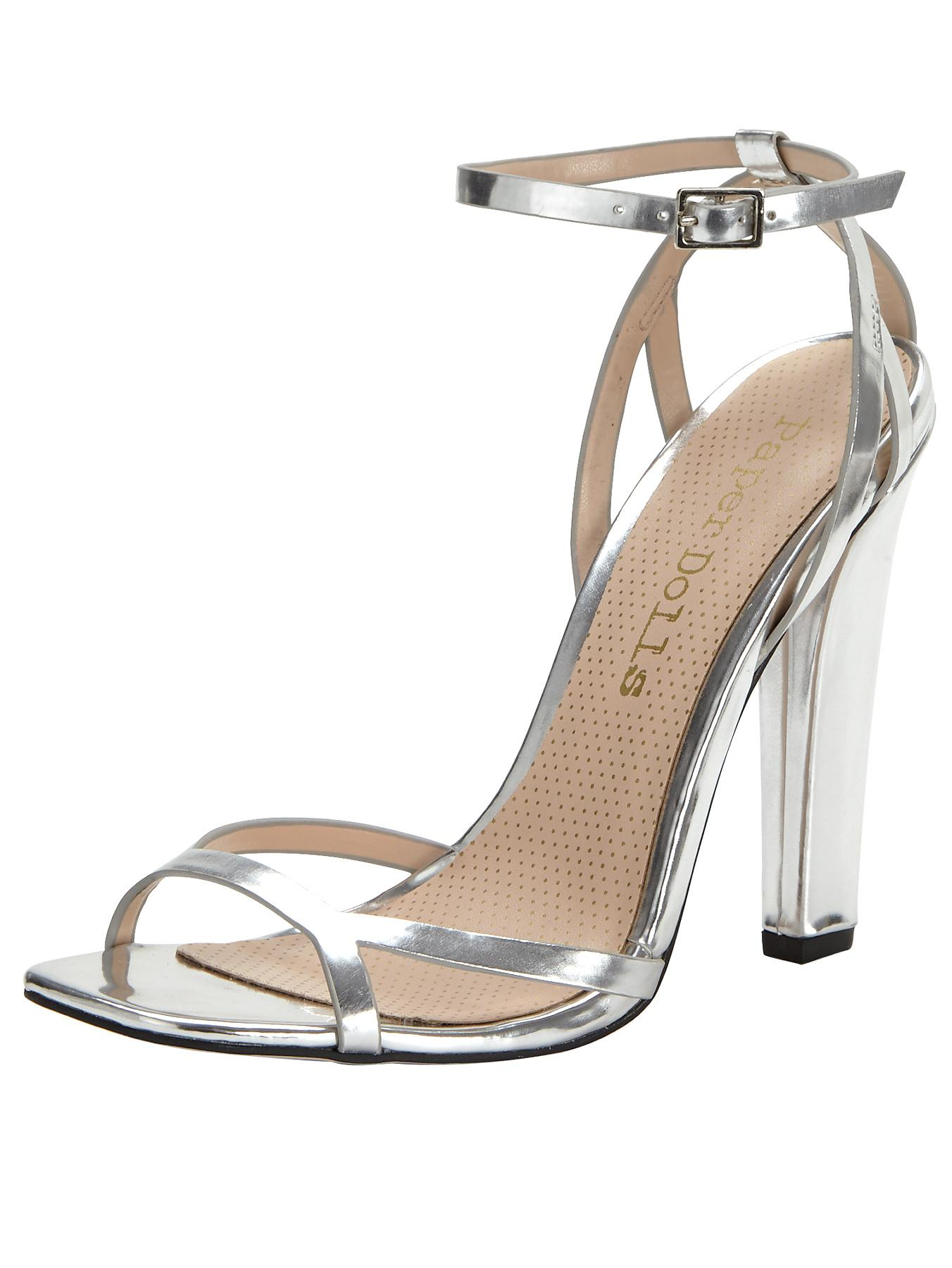 Paper Dolls Metallic Block Heeled Sandal