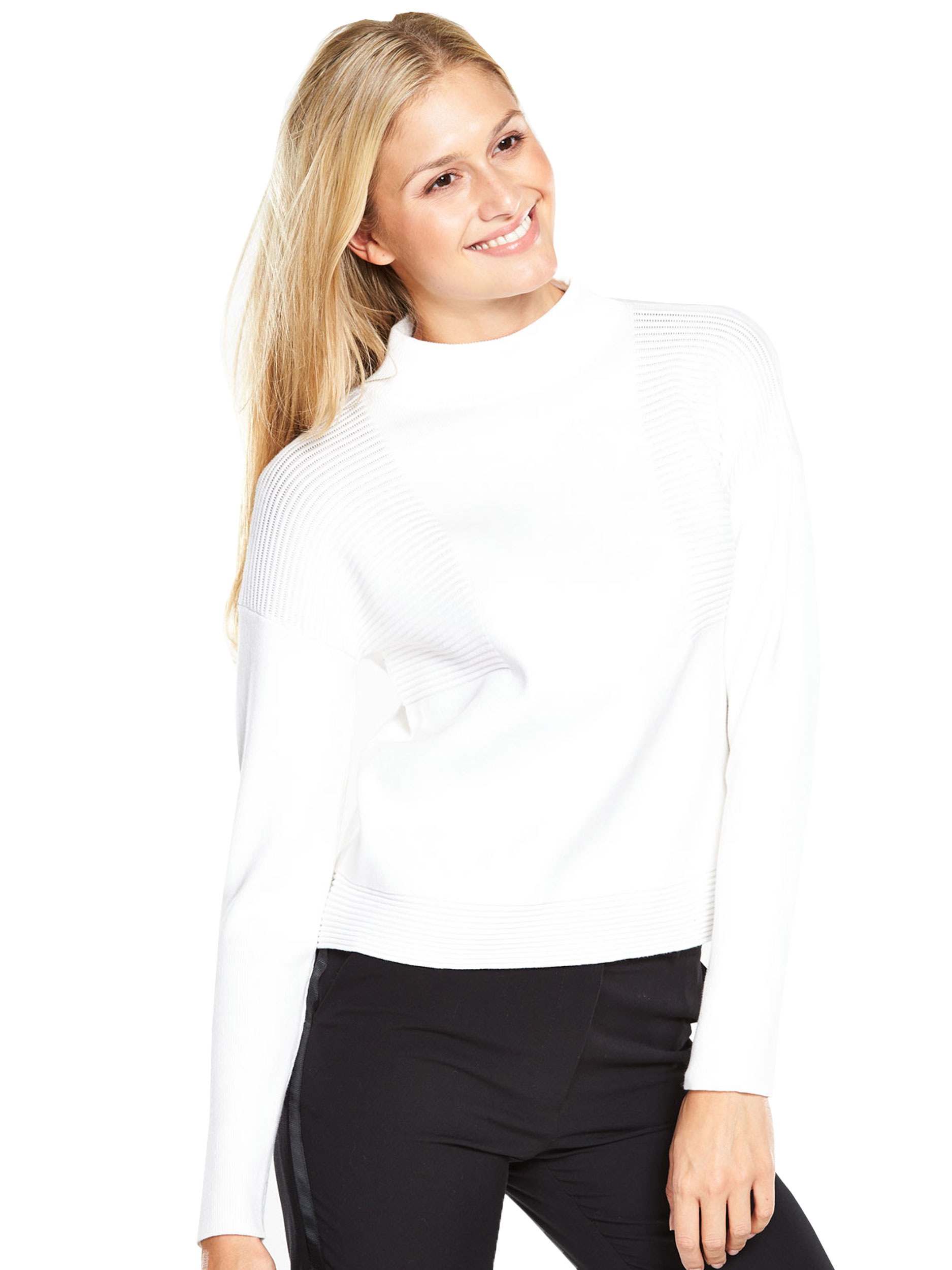 V by Very Ribbed Funnel Neck Jumper.