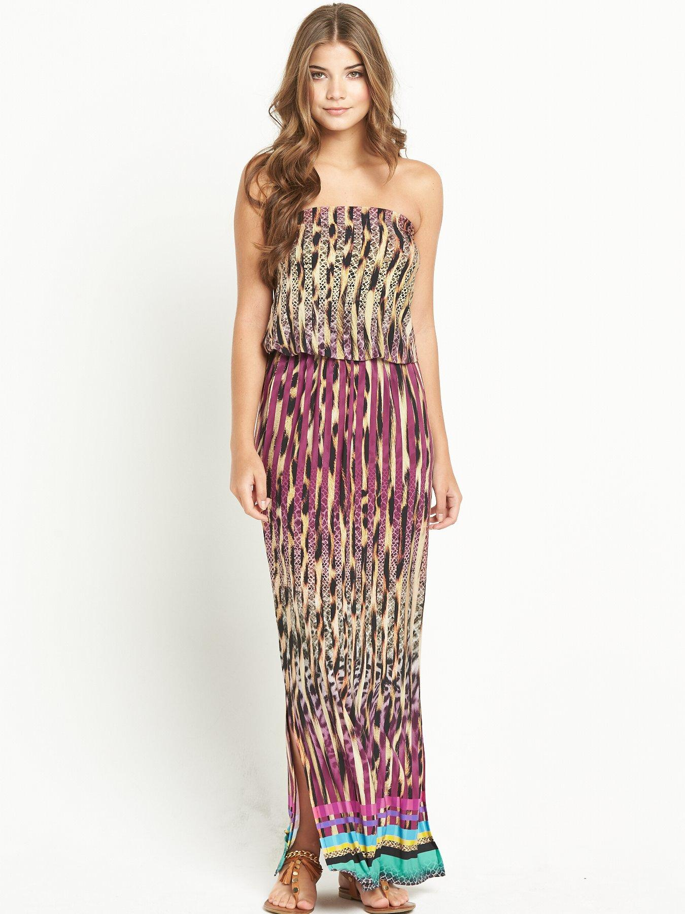 Resort Bandeau Jersey Maxi Dress